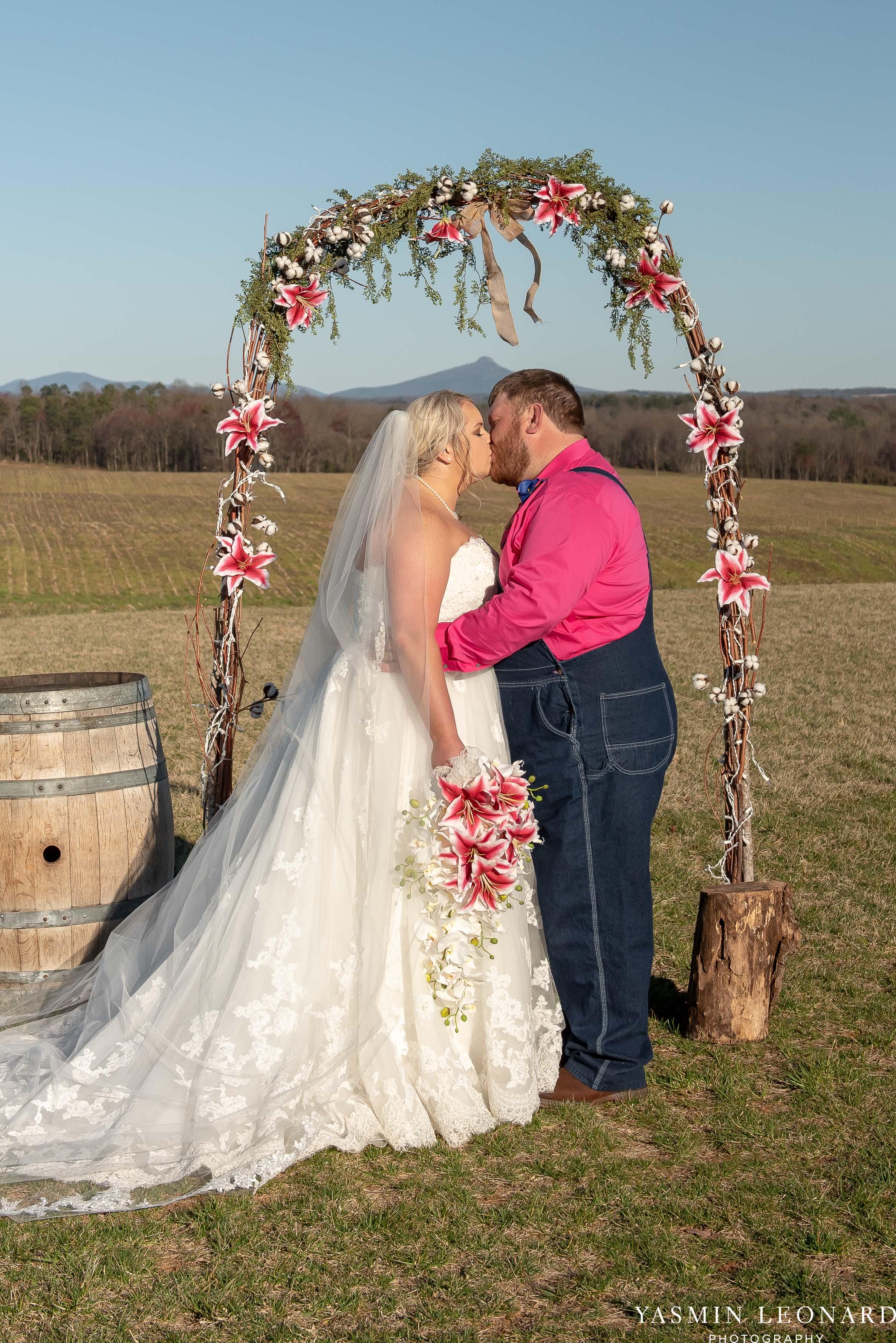 The Barn at Heritage Farm - Country Wedding - Pink and Blue Wedding - Barn Wedding - Outdoor Wedding - Cotton and Wheat Decor - Groom in Bibs - Pink Bridal Colors - Yasmin Leonard Photography-15.jpg