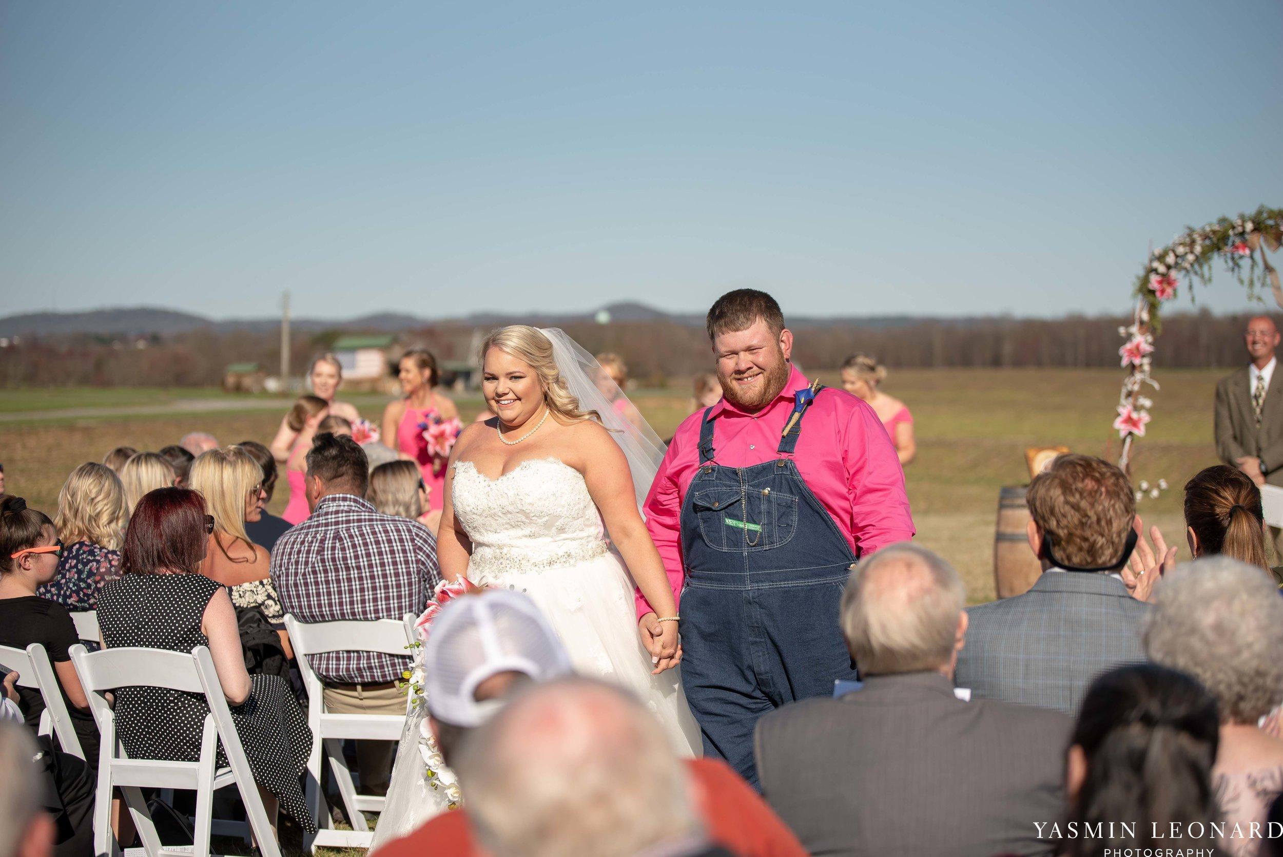 The Barn at Heritage Farm - Country Wedding - Pink and Blue Wedding - Barn Wedding - Outdoor Wedding - Cotton and Wheat Decor - Groom in Bibs - Pink Bridal Colors - Yasmin Leonard Photography-16.jpg