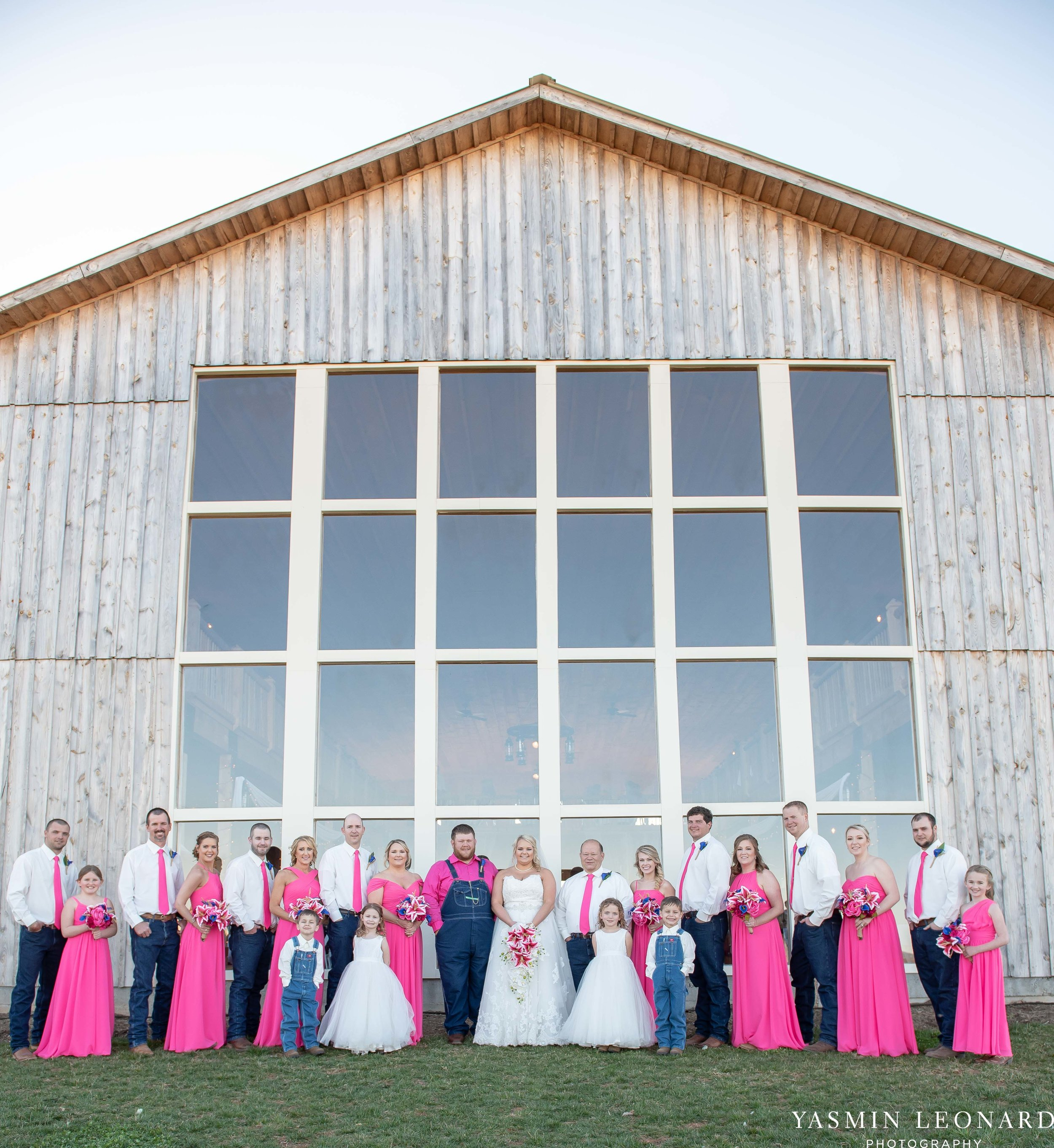 The Barn at Heritage Farm - Country Wedding - Pink and Blue Wedding - Barn Wedding - Outdoor Wedding - Cotton and Wheat Decor - Groom in Bibs - Pink Bridal Colors - Yasmin Leonard Photography-17.jpg