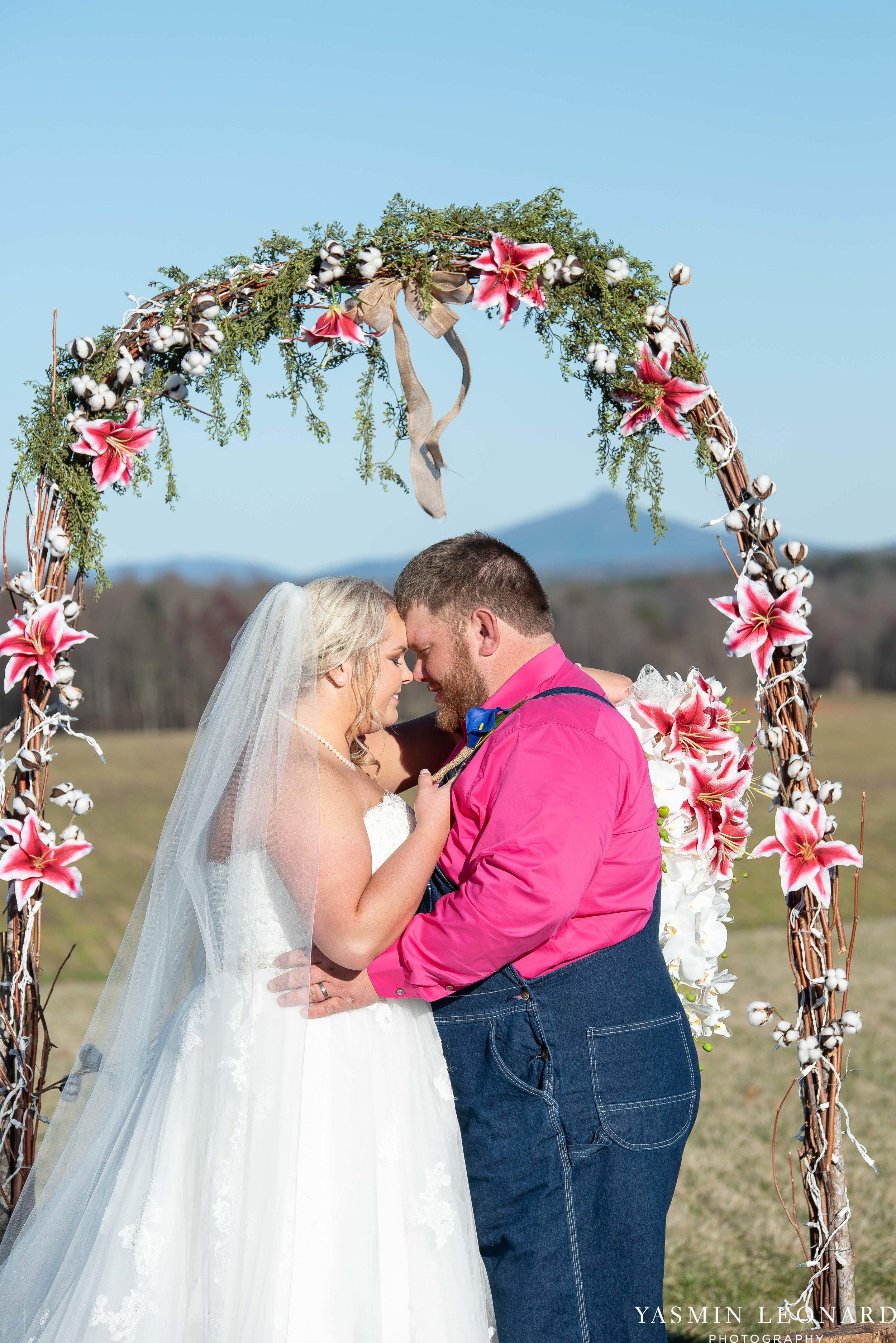 The Barn at Heritage Farm - Country Wedding - Pink and Blue Wedding - Barn Wedding - Outdoor Wedding - Cotton and Wheat Decor - Groom in Bibs - Pink Bridal Colors - Yasmin Leonard Photography-19.jpg