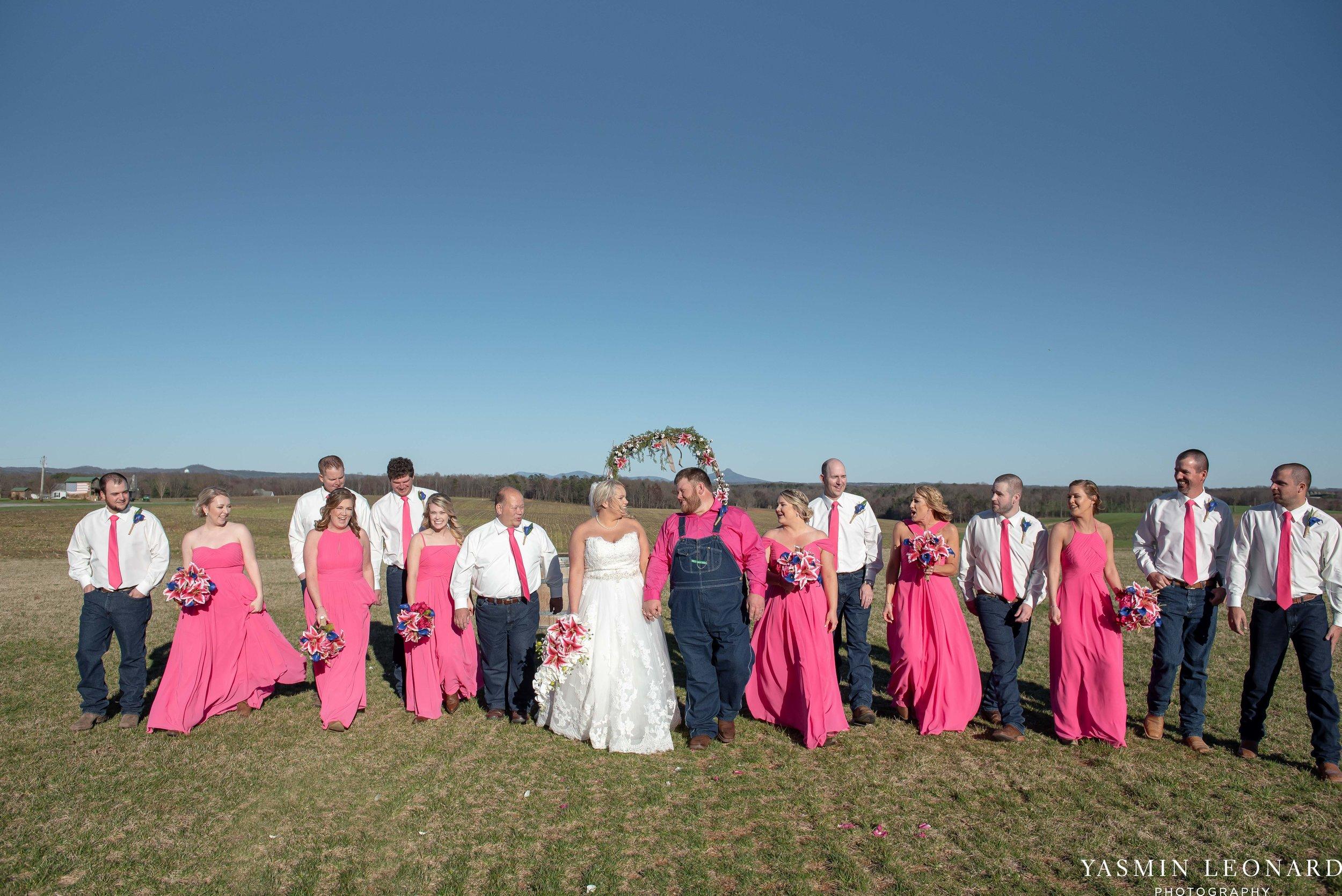 The Barn at Heritage Farm - Country Wedding - Pink and Blue Wedding - Barn Wedding - Outdoor Wedding - Cotton and Wheat Decor - Groom in Bibs - Pink Bridal Colors - Yasmin Leonard Photography-18.jpg