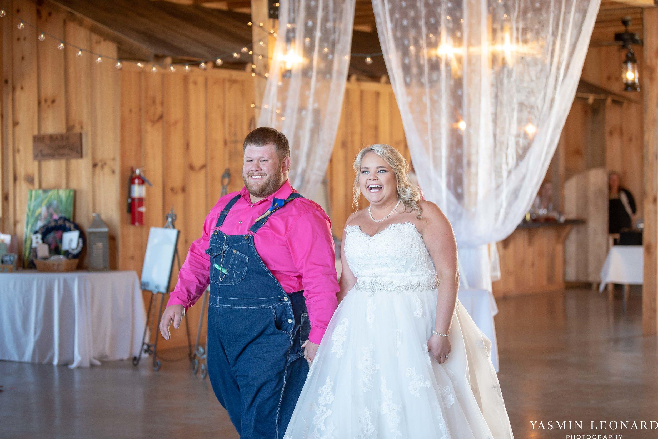 The Barn at Heritage Farm - Country Wedding - Pink and Blue Wedding - Barn Wedding - Outdoor Wedding - Cotton and Wheat Decor - Groom in Bibs - Pink Bridal Colors - Yasmin Leonard Photography-24.jpg