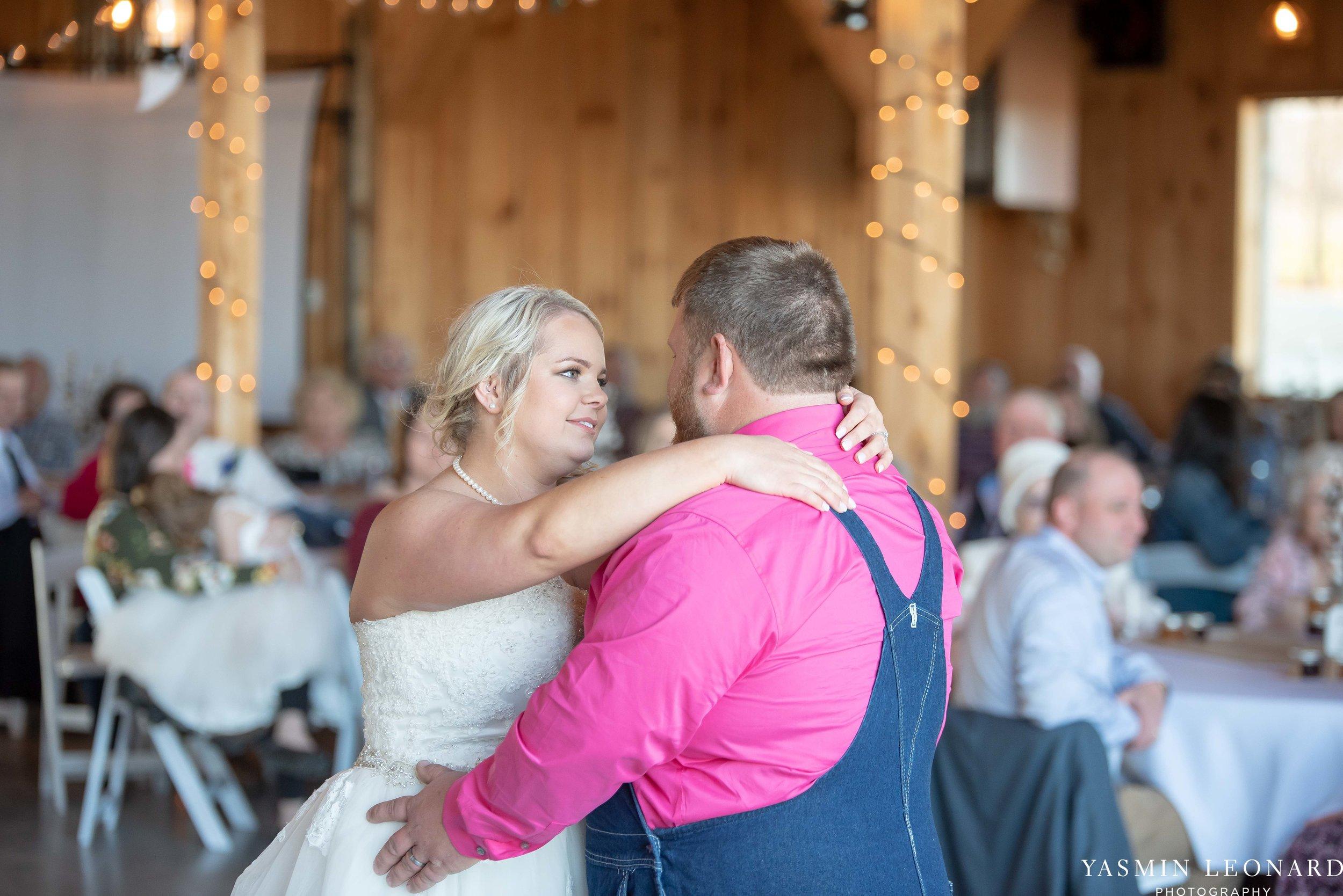 The Barn at Heritage Farm - Country Wedding - Pink and Blue Wedding - Barn Wedding - Outdoor Wedding - Cotton and Wheat Decor - Groom in Bibs - Pink Bridal Colors - Yasmin Leonard Photography-25.jpg