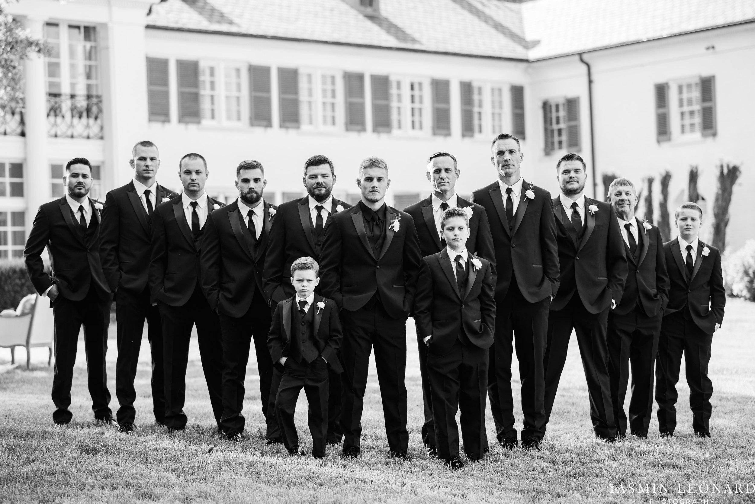 Boxwood Estate - Boxwood Estate Wedding - Luxury Wedding - Black and White Wedding - NC Wedding Venues - NC Weddings - NC Photographer - Lantern Release Grand Exit - Large Wedding Party - Yasmin Leonard Photography-19.jpg