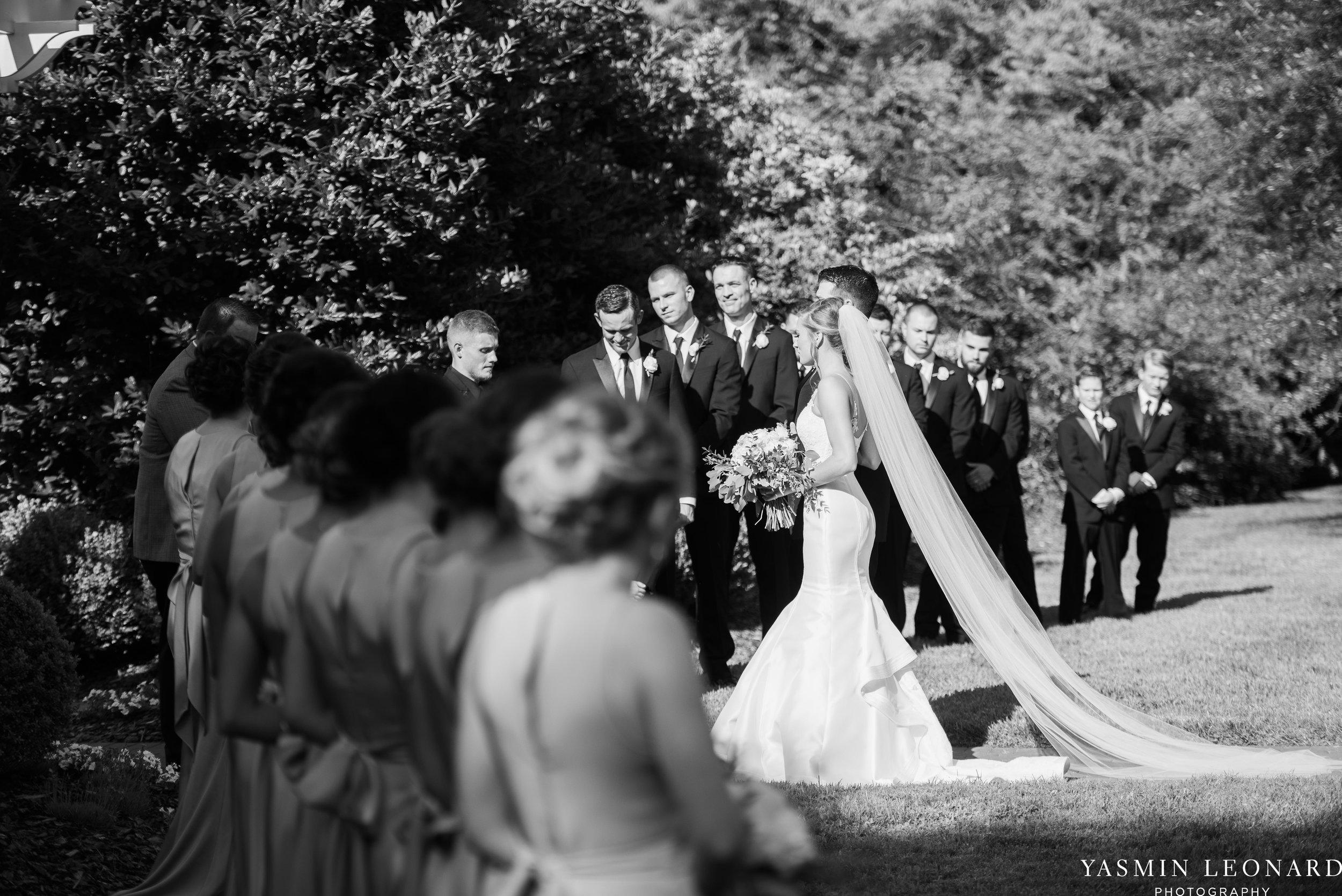 Boxwood Estate - Boxwood Estate Wedding - Luxury Wedding - Black and White Wedding - NC Wedding Venues - NC Weddings - NC Photographer - Lantern Release Grand Exit - Large Wedding Party - Yasmin Leonard Photography-28.jpg