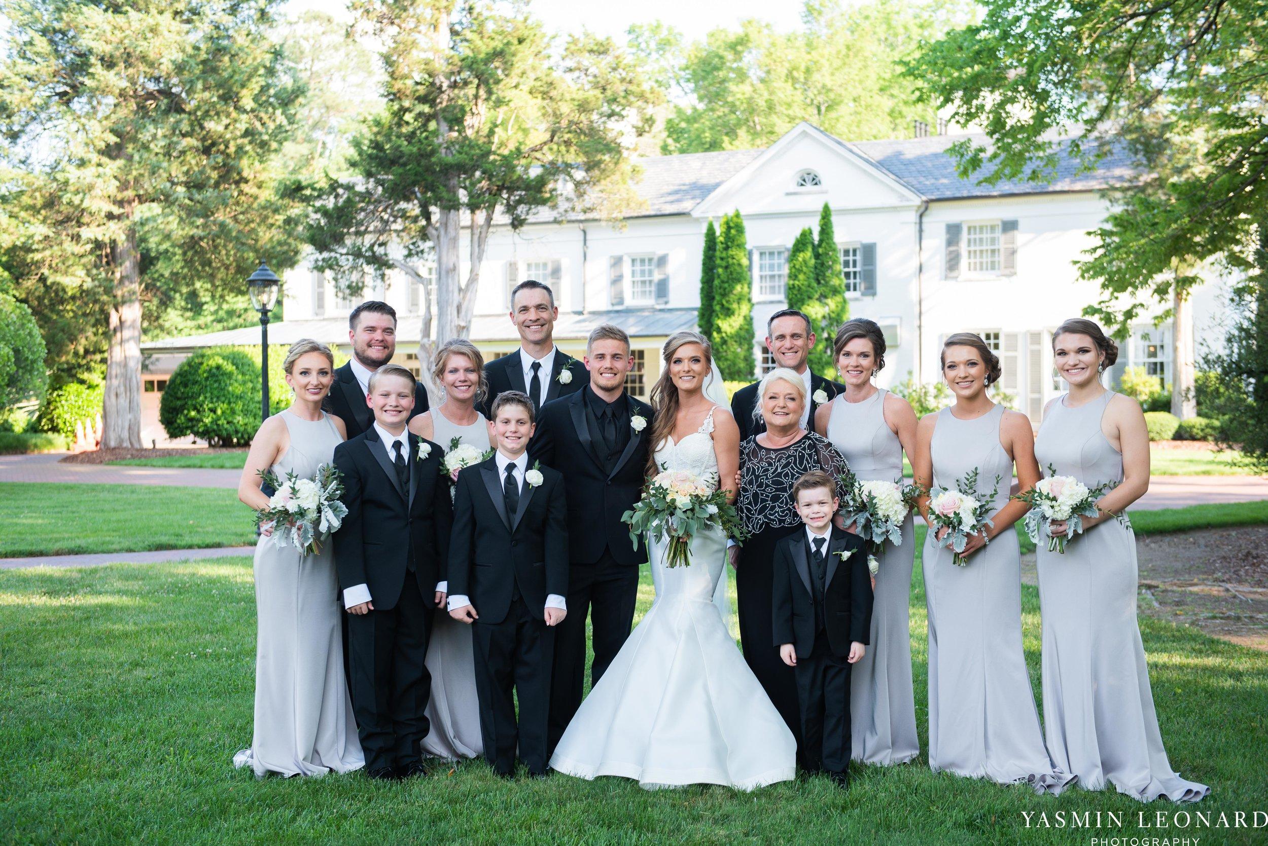 Boxwood Estate - Boxwood Estate Wedding - Luxury Wedding - Black and White Wedding - NC Wedding Venues - NC Weddings - NC Photographer - Lantern Release Grand Exit - Large Wedding Party - Yasmin Leonard Photography-32.jpg