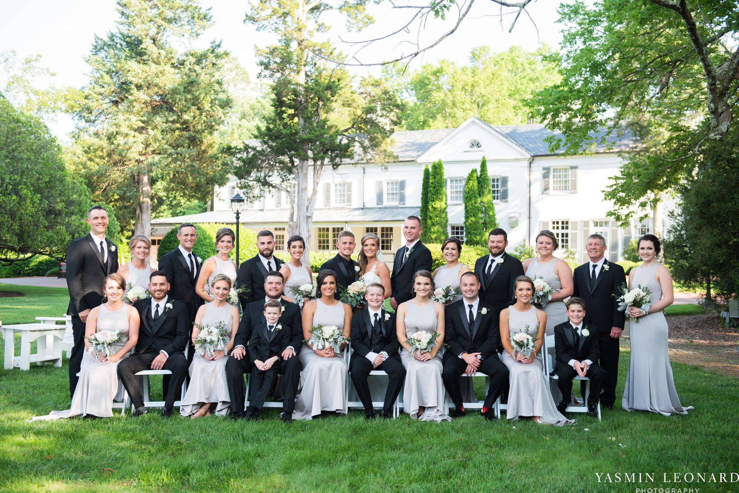 Boxwood Estate - Boxwood Estate Wedding - Luxury Wedding - Black and White Wedding - NC Wedding Venues - NC Weddings - NC Photographer - Lantern Release Grand Exit - Large Wedding Party - Yasmin Leonard Photography-34.jpg