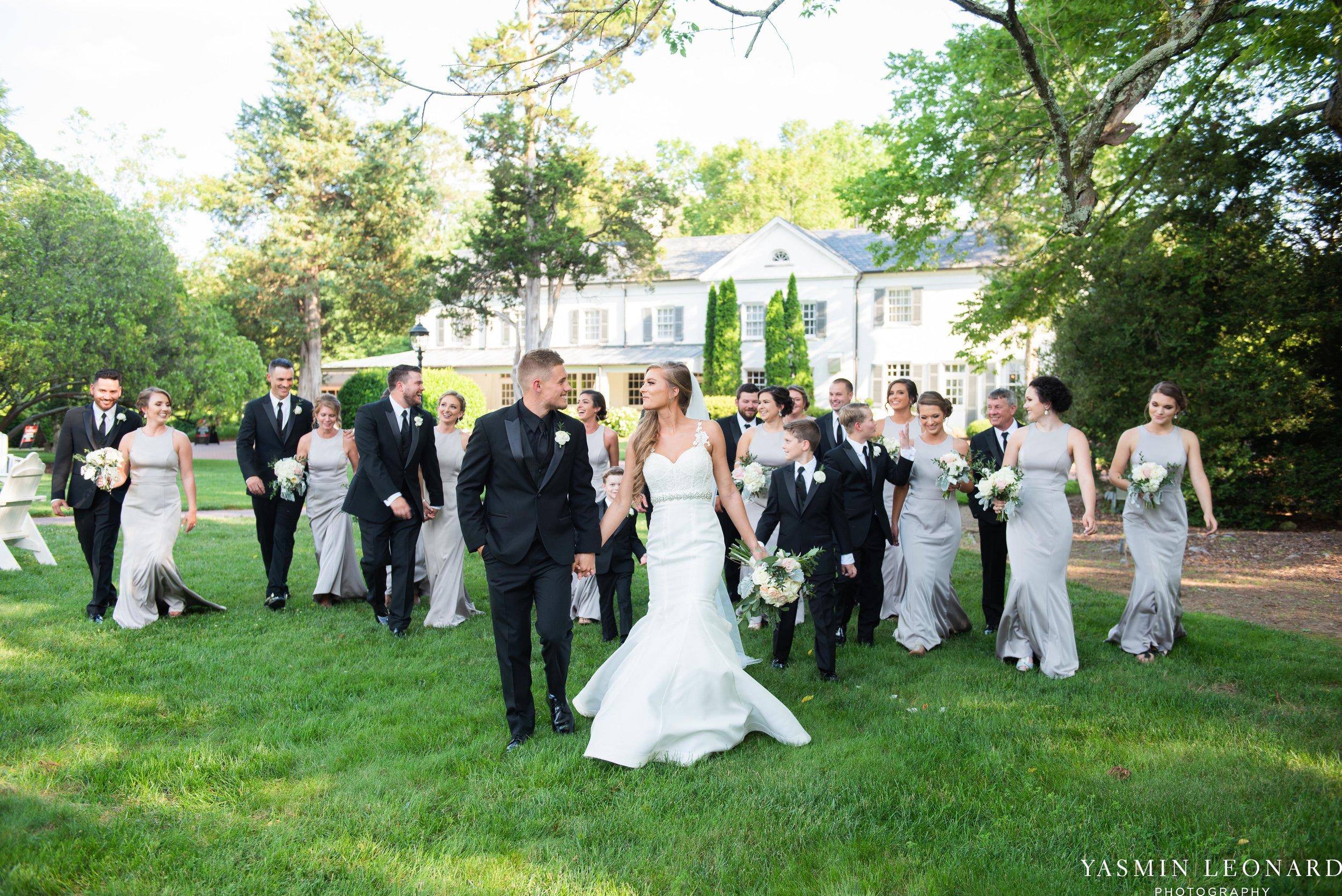 Boxwood Estate - Boxwood Estate Wedding - Luxury Wedding - Black and White Wedding - NC Wedding Venues - NC Weddings - NC Photographer - Lantern Release Grand Exit - Large Wedding Party - Yasmin Leonard Photography-35.jpg