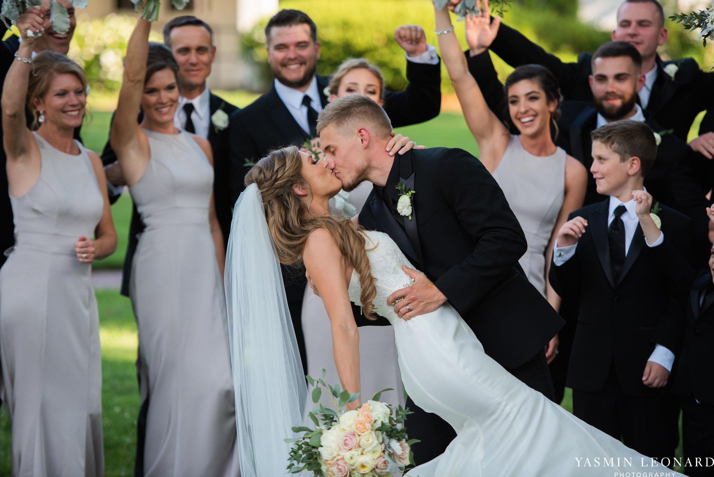 Boxwood Estate - Boxwood Estate Wedding - Luxury Wedding - Black and White Wedding - NC Wedding Venues - NC Weddings - NC Photographer - Lantern Release Grand Exit - Large Wedding Party - Yasmin Leonard Photography-36.jpg