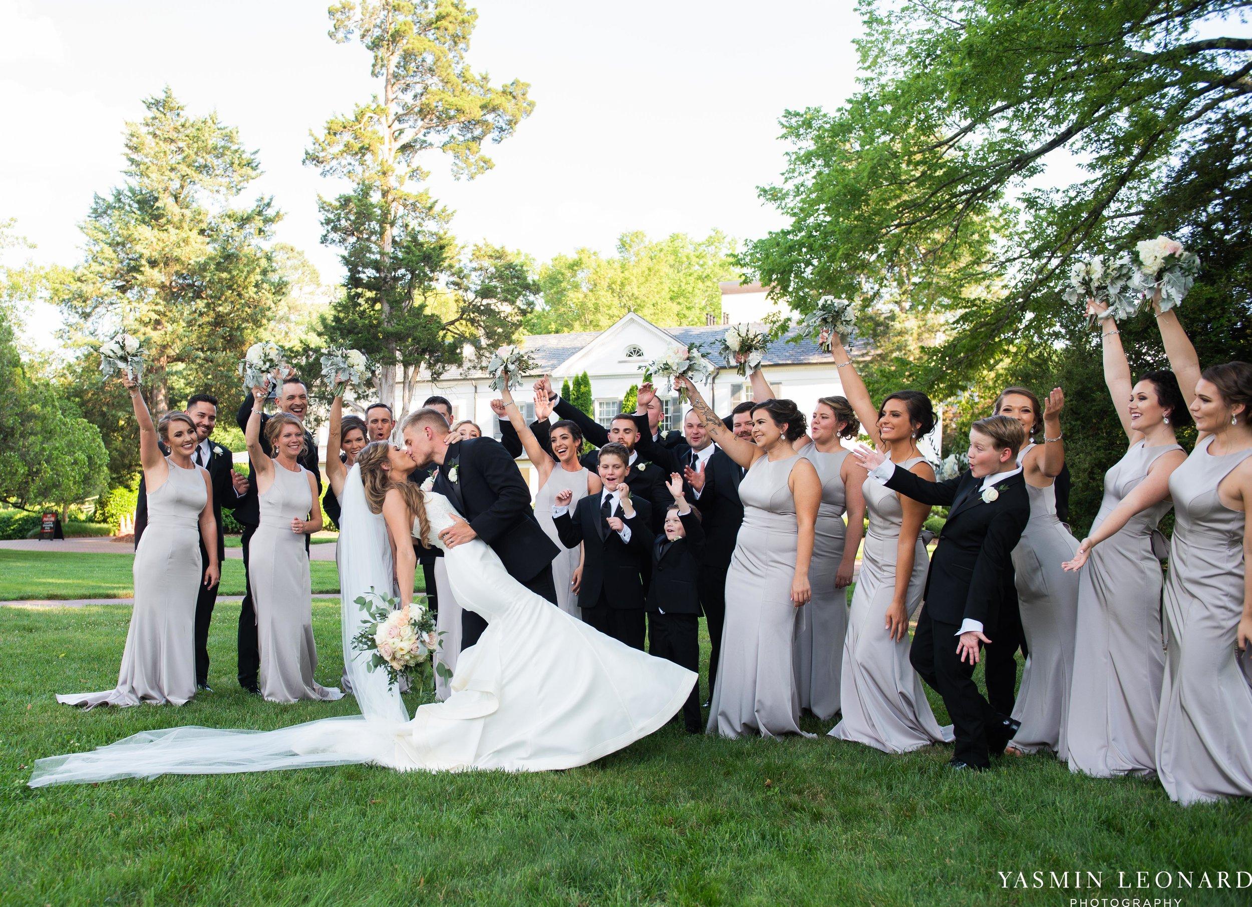 Boxwood Estate - Boxwood Estate Wedding - Luxury Wedding - Black and White Wedding - NC Wedding Venues - NC Weddings - NC Photographer - Lantern Release Grand Exit - Large Wedding Party - Yasmin Leonard Photography-37.jpg