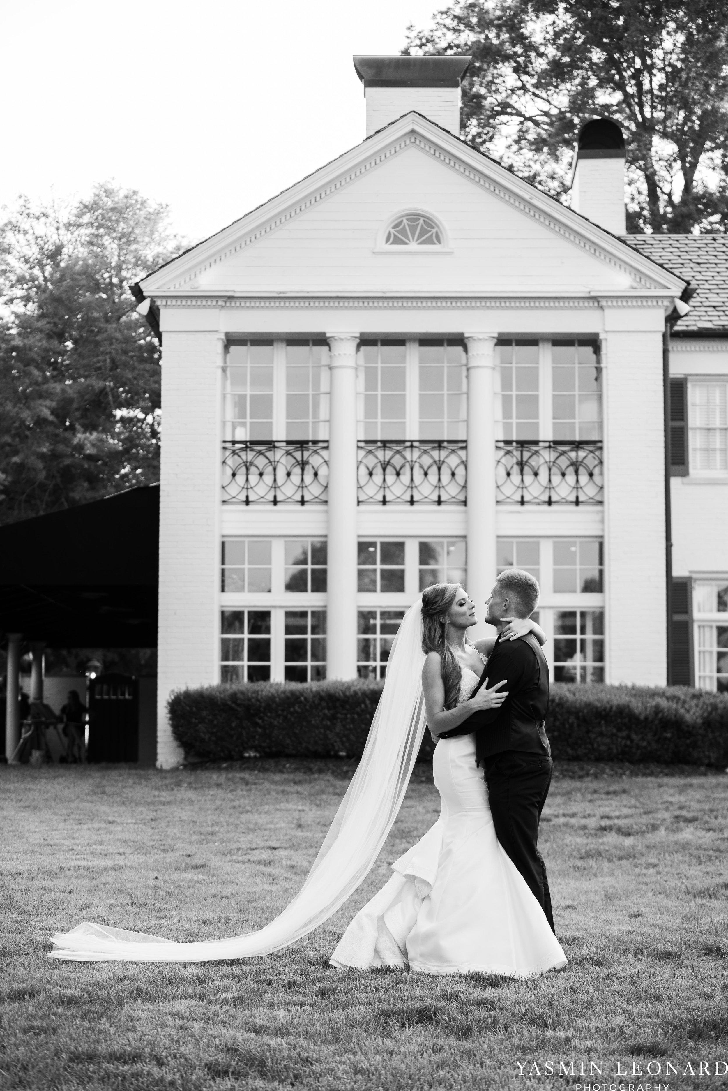 Boxwood Estate - Boxwood Estate Wedding - Luxury Wedding - Black and White Wedding - NC Wedding Venues - NC Weddings - NC Photographer - Lantern Release Grand Exit - Large Wedding Party - Yasmin Leonard Photography-58.jpg