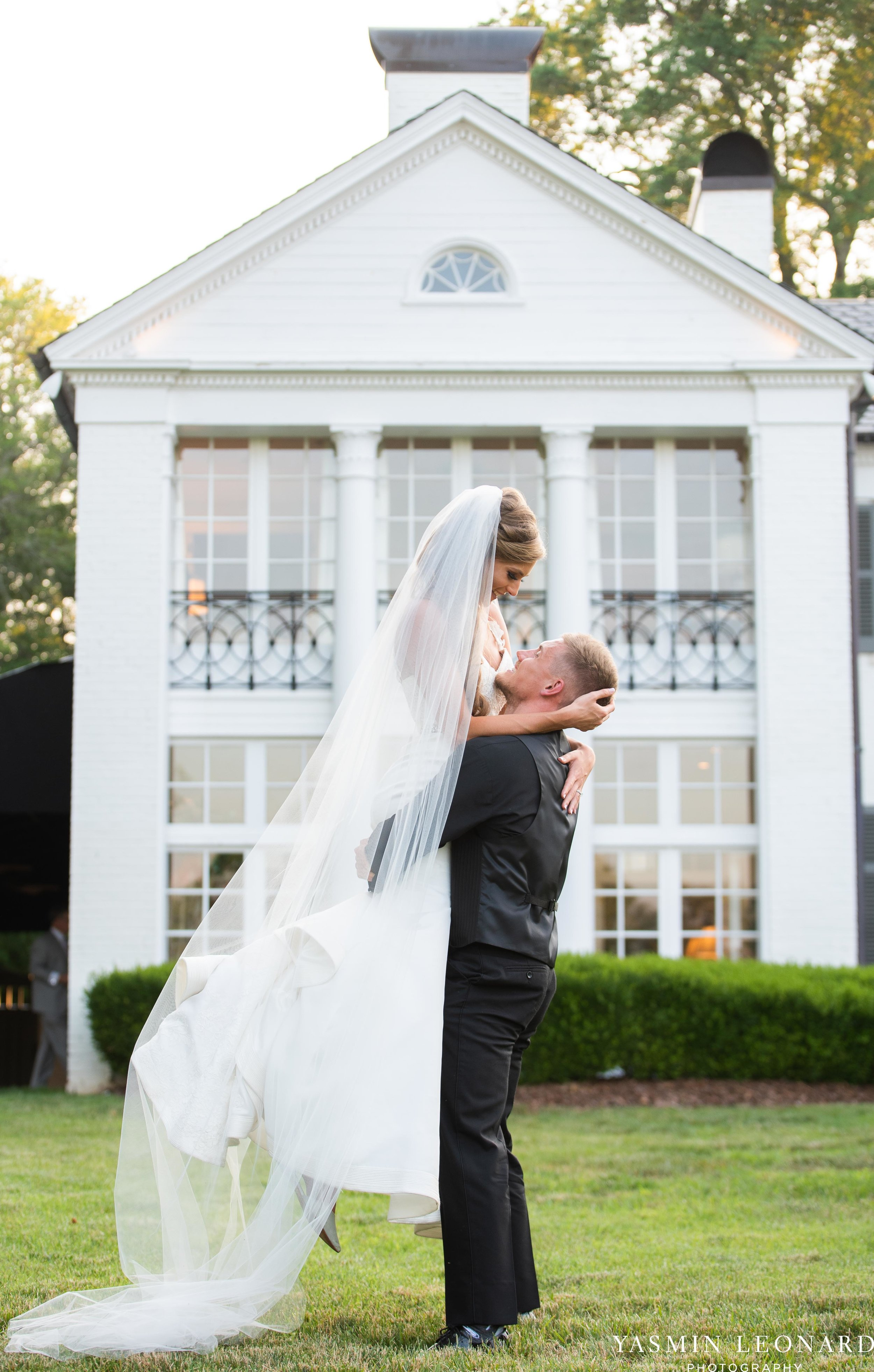 Boxwood Estate - Boxwood Estate Wedding - Luxury Wedding - Black and White Wedding - NC Wedding Venues - NC Weddings - NC Photographer - Lantern Release Grand Exit - Large Wedding Party - Yasmin Leonard Photography-61.jpg