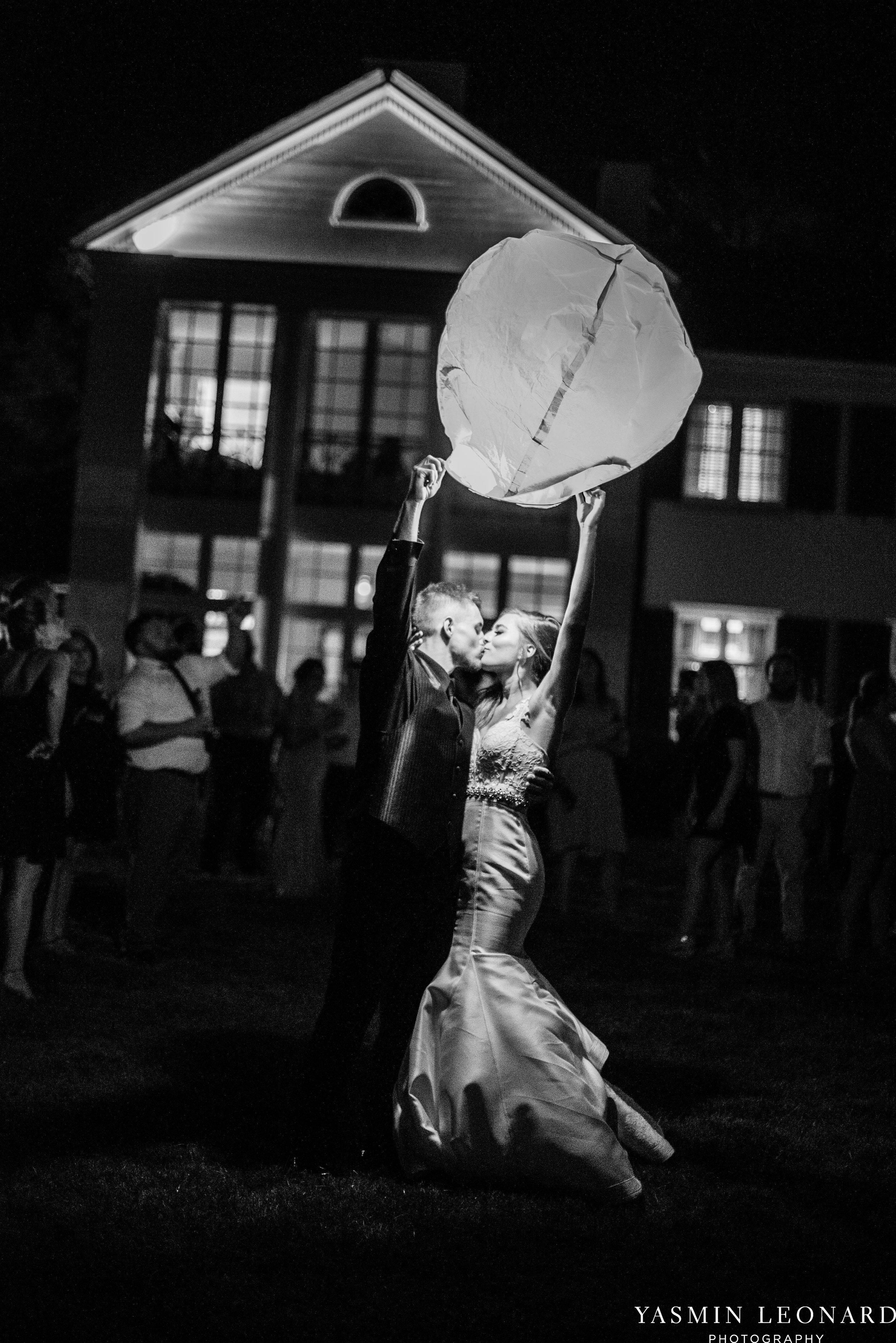 Boxwood Estate - Boxwood Estate Wedding - Luxury Wedding - Black and White Wedding - NC Wedding Venues - NC Weddings - NC Photographer - Lantern Release Grand Exit - Large Wedding Party - Yasmin Leonard Photography-91.jpg