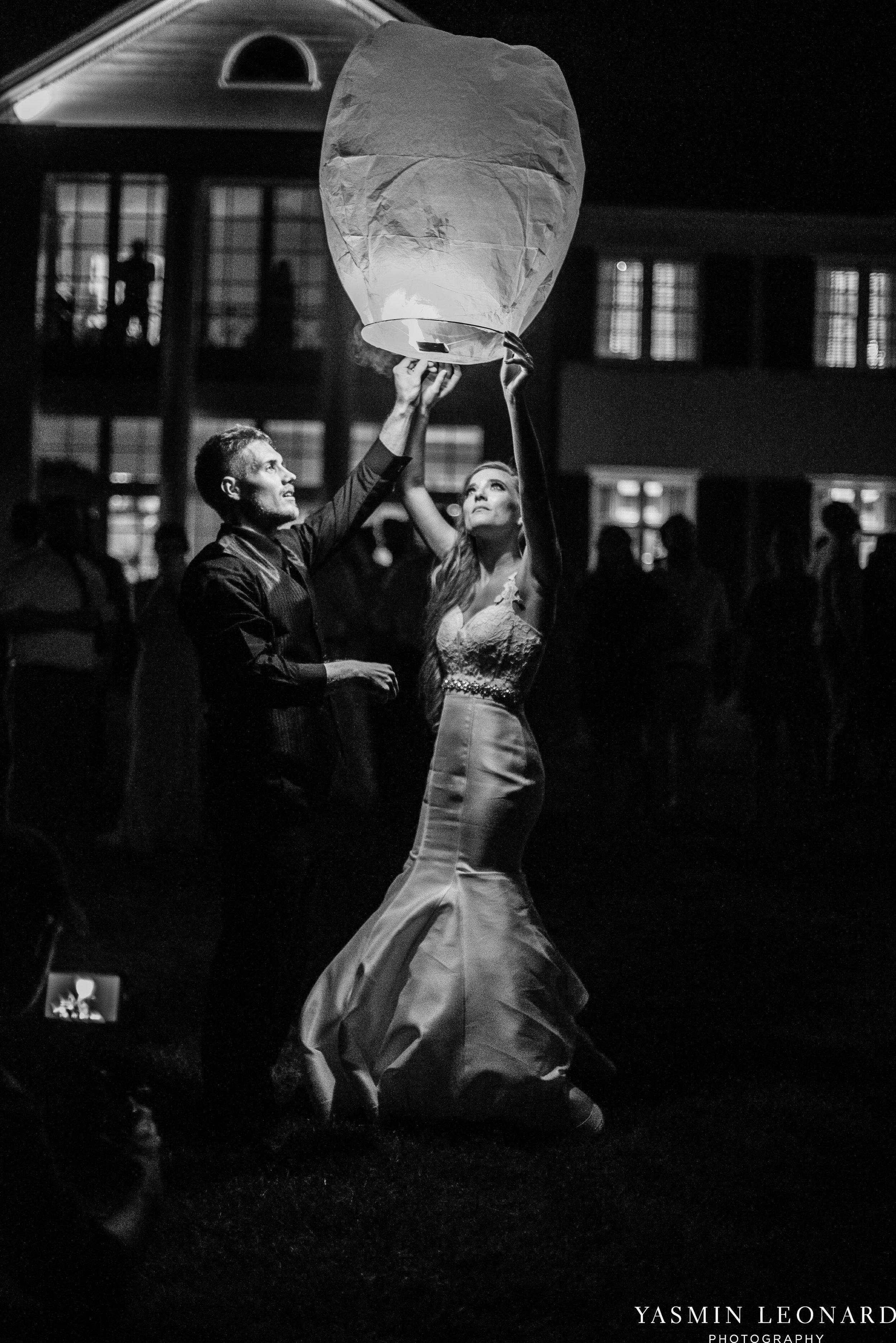 Boxwood Estate - Boxwood Estate Wedding - Luxury Wedding - Black and White Wedding - NC Wedding Venues - NC Weddings - NC Photographer - Lantern Release Grand Exit - Large Wedding Party - Yasmin Leonard Photography-92.jpg