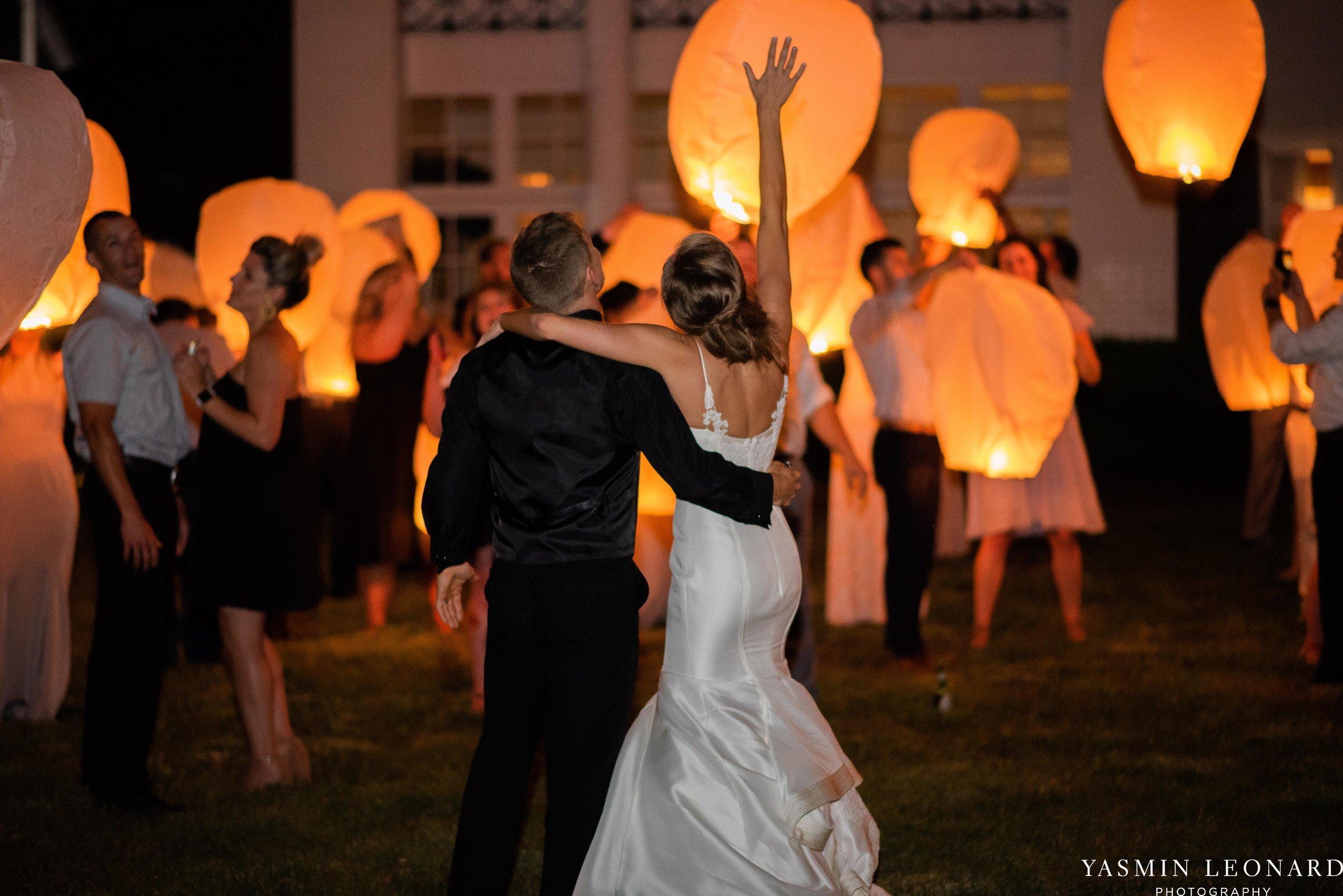 Boxwood Estate - Boxwood Estate Wedding - Luxury Wedding - Black and White Wedding - NC Wedding Venues - NC Weddings - NC Photographer - Lantern Release Grand Exit - Large Wedding Party - Yasmin Leonard Photography-93.jpg