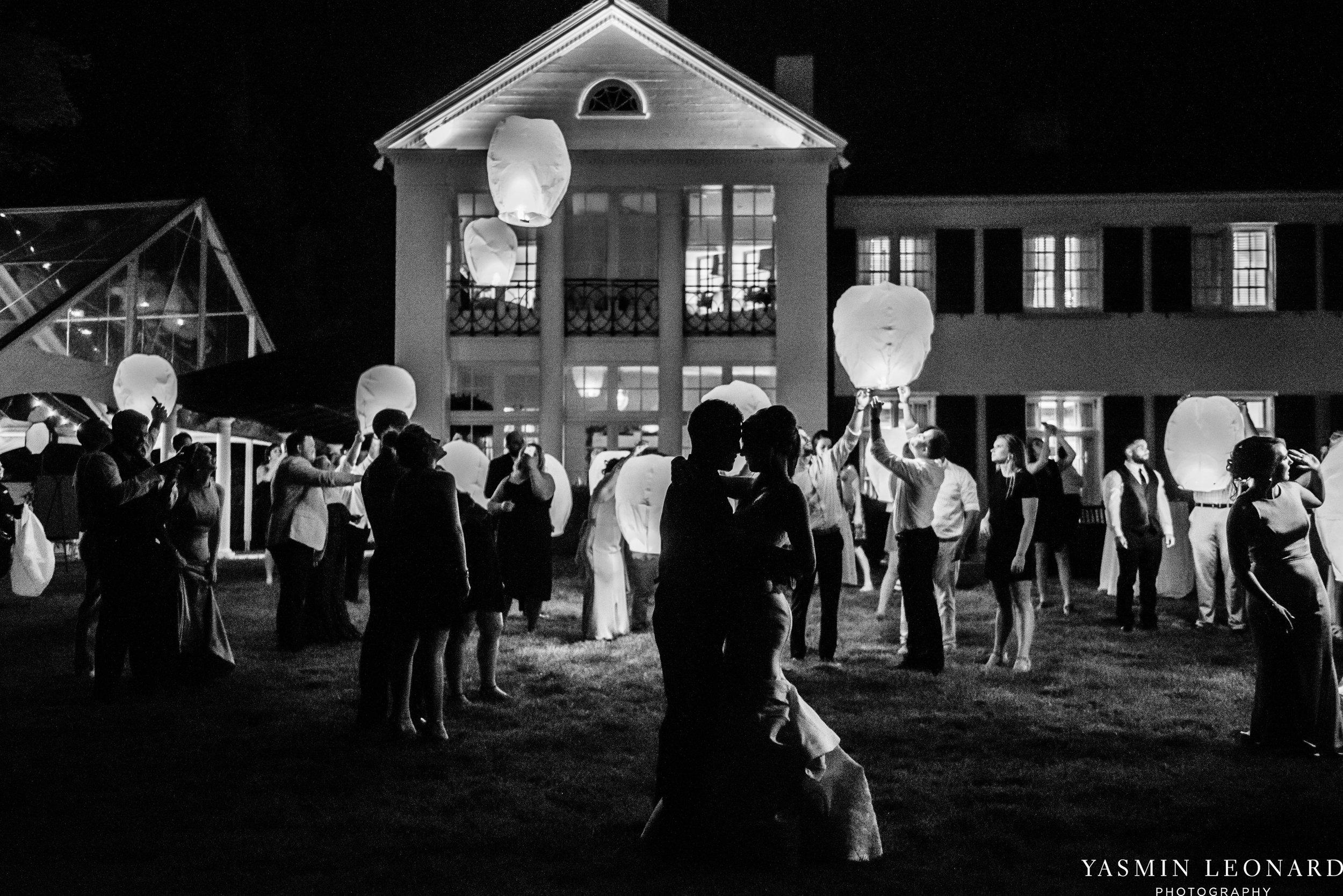 Boxwood Estate - Boxwood Estate Wedding - Luxury Wedding - Black and White Wedding - NC Wedding Venues - NC Weddings - NC Photographer - Lantern Release Grand Exit - Large Wedding Party - Yasmin Leonard Photography-95.jpg