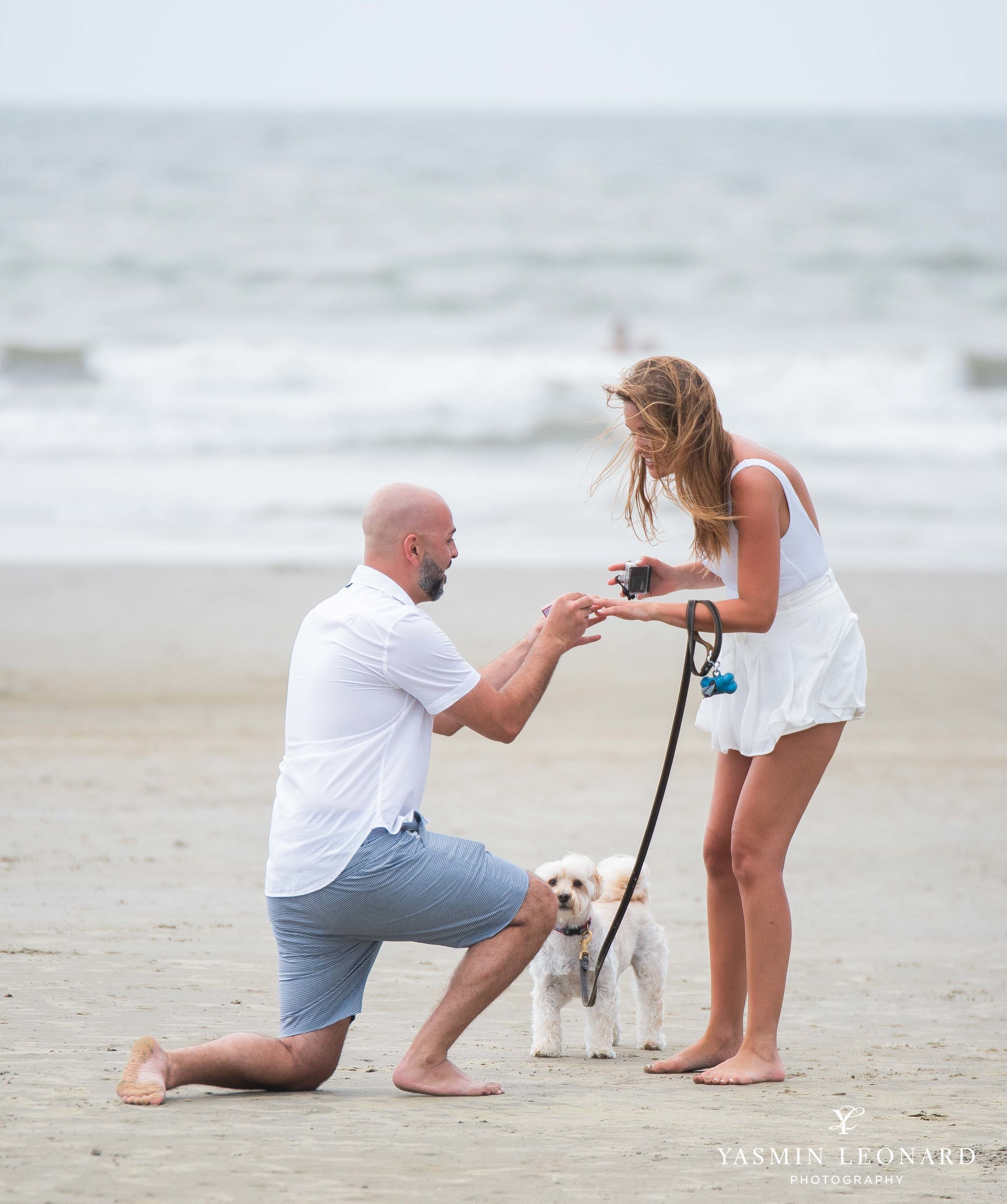 Beach Proposal - Beach Engagement Kiawah Island Photographer - NC Beach Photographer - How He Asked - NC Photographer - Proposal Ideas - Engagement Ring - Yasmin Leonard Photography-2.jpg
