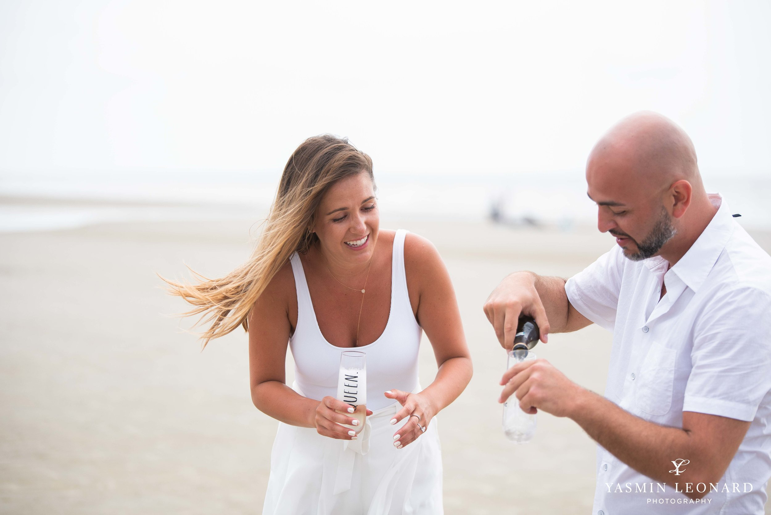 Beach Proposal - Beach Engagement Kiawah Island Photographer - NC Beach Photographer - How He Asked - NC Photographer - Proposal Ideas - Engagement Ring - Yasmin Leonard Photography-5.jpg