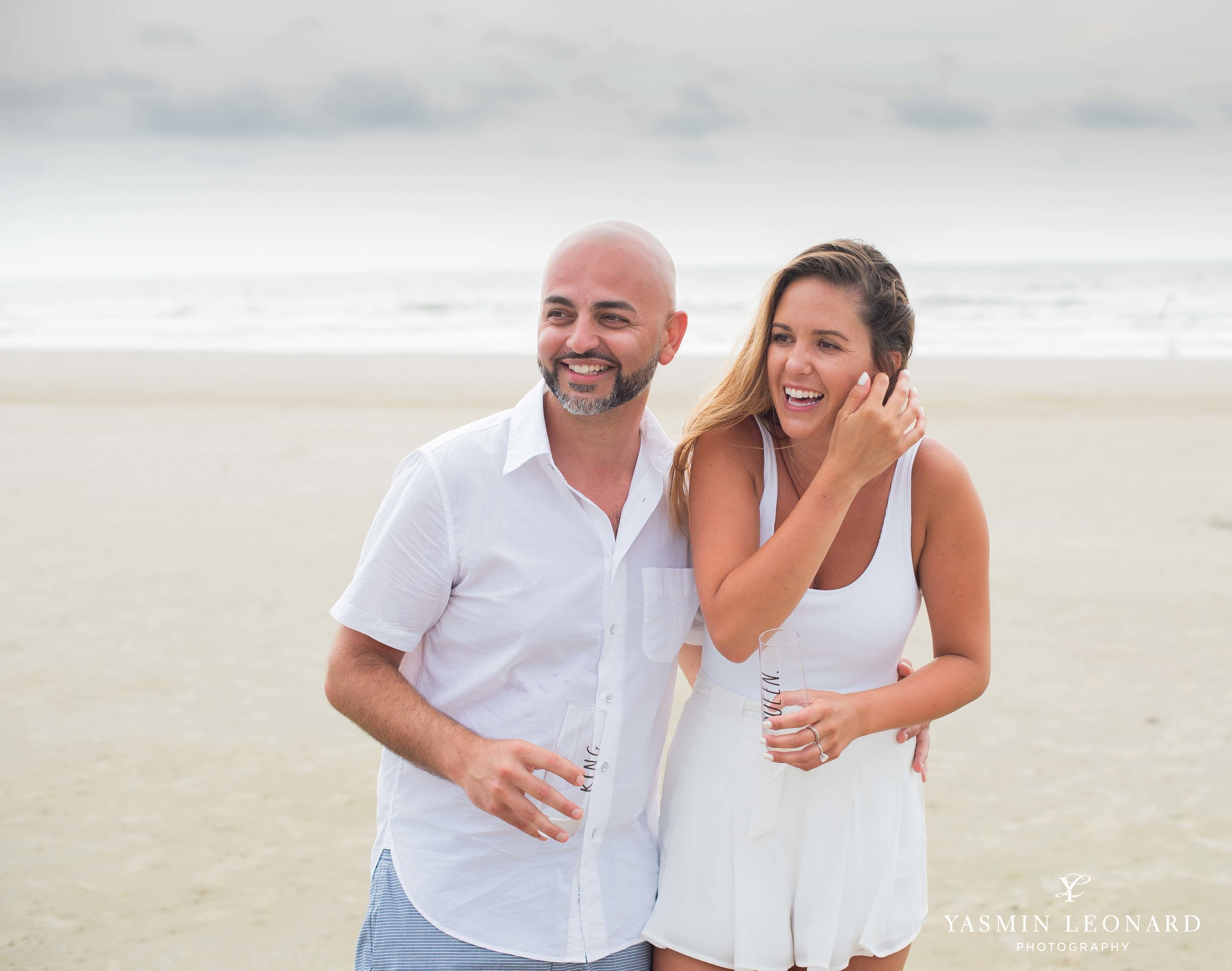 Beach Proposal - Beach Engagement Kiawah Island Photographer - NC Beach Photographer - How He Asked - NC Photographer - Proposal Ideas - Engagement Ring - Yasmin Leonard Photography-8.jpg