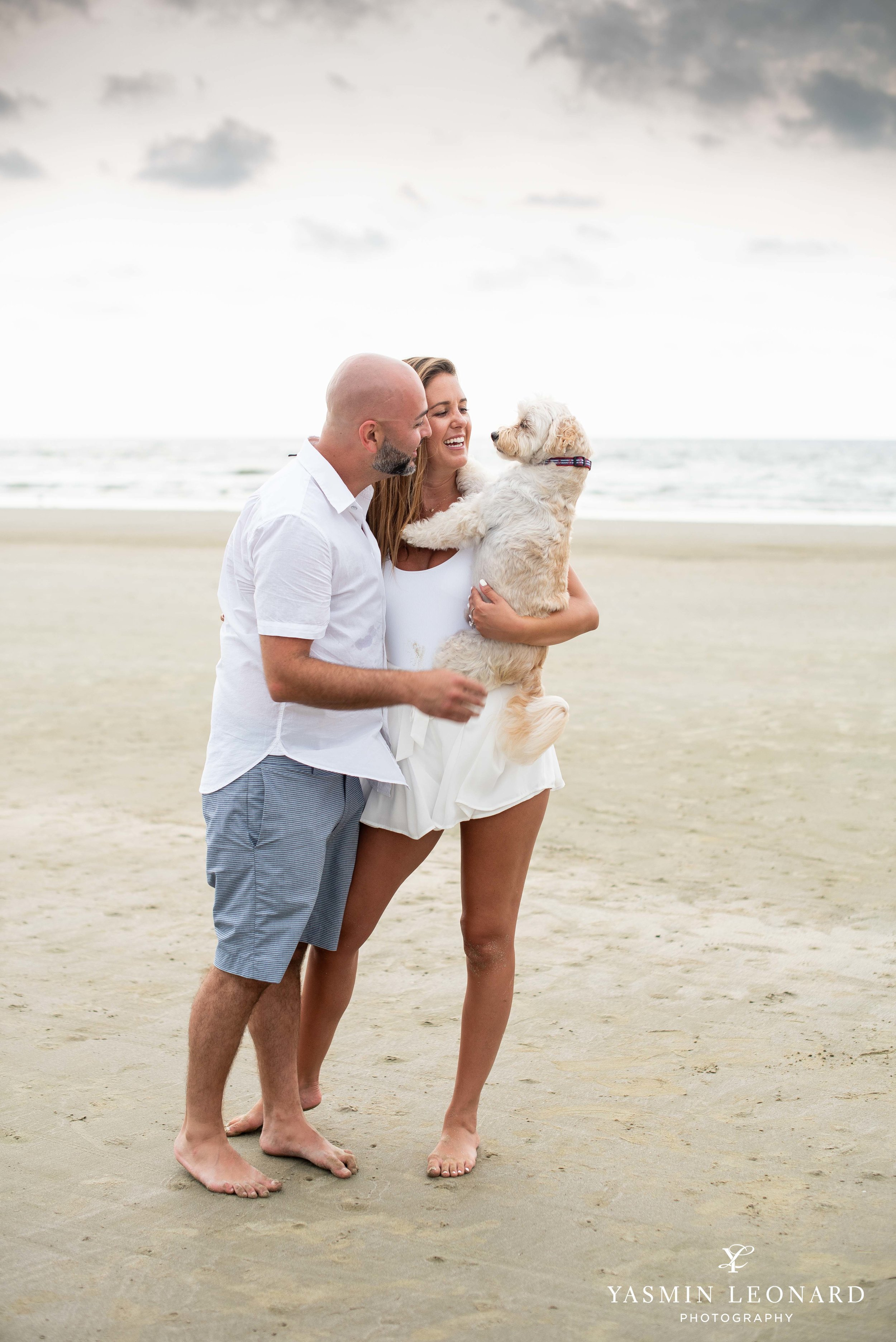 Beach Proposal - Beach Engagement Kiawah Island Photographer - NC Beach Photographer - How He Asked - NC Photographer - Proposal Ideas - Engagement Ring - Yasmin Leonard Photography-9.jpg