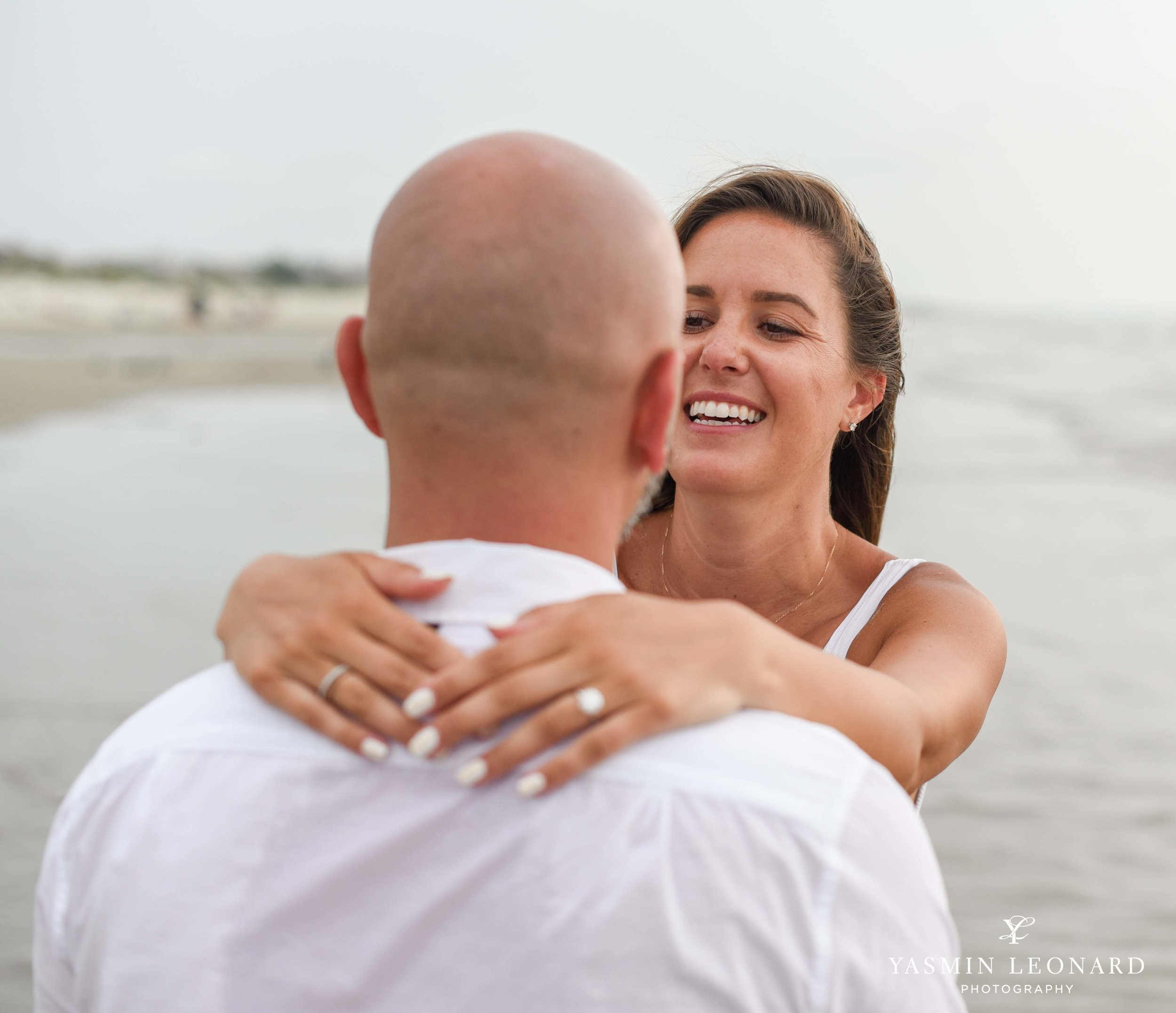 Beach Proposal - Beach Engagement Kiawah Island Photographer - NC Beach Photographer - How He Asked - NC Photographer - Proposal Ideas - Engagement Ring - Yasmin Leonard Photography-13.jpg