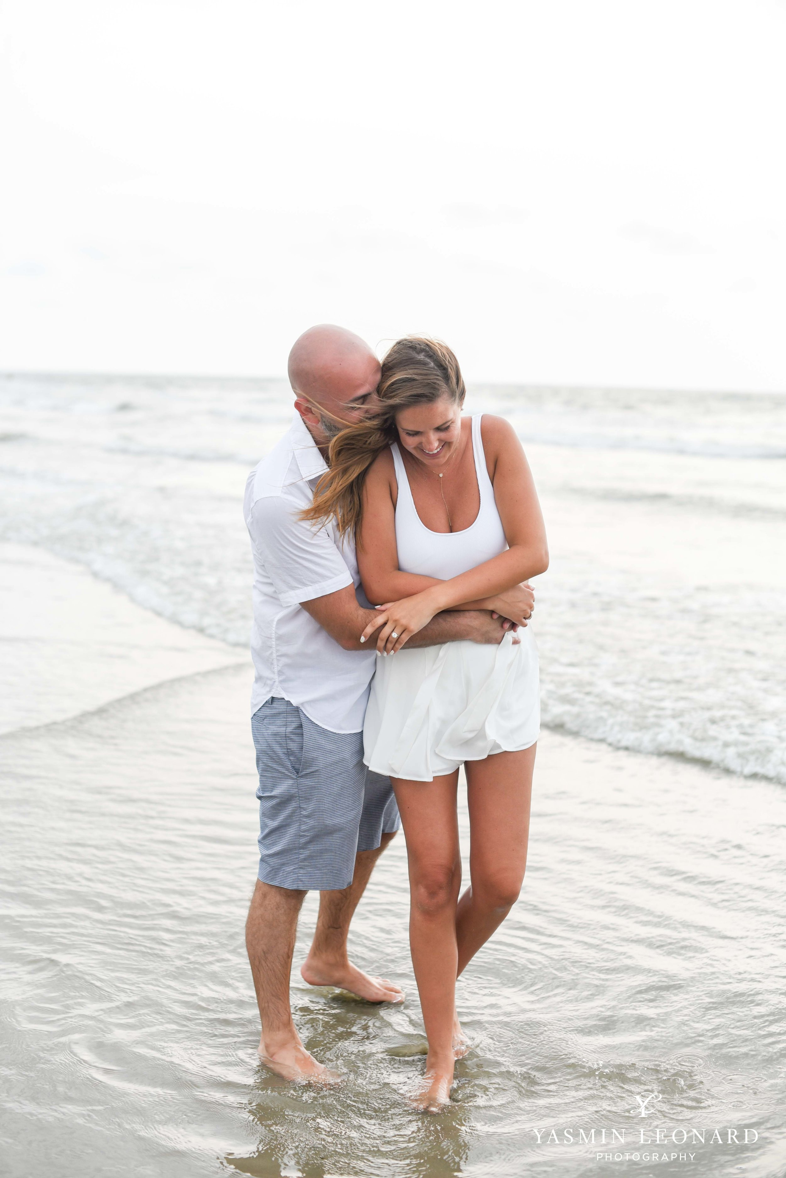 Beach Proposal - Beach Engagement Kiawah Island Photographer - NC Beach Photographer - How He Asked - NC Photographer - Proposal Ideas - Engagement Ring - Yasmin Leonard Photography-14.jpg