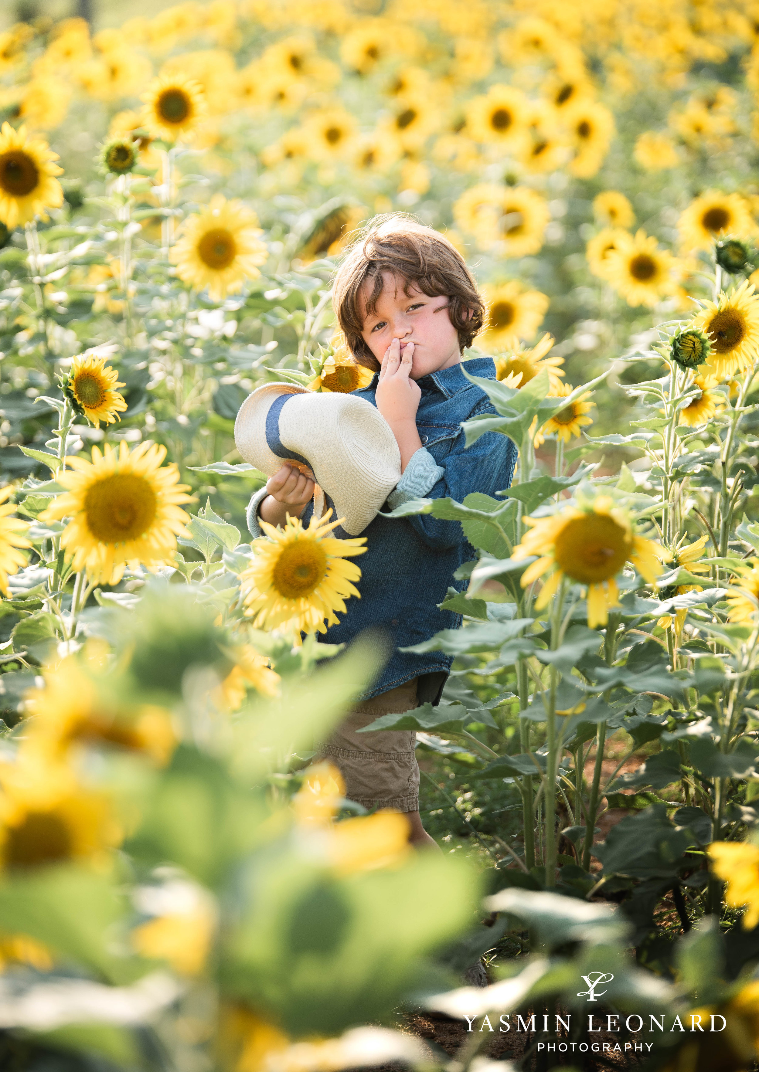 Sunflower Mini Session - Dogwood Farms - Sunflower Field - Boys in Sunflower Field - What to wear sunflower field - Yasmin Leonard Photography-6.jpg