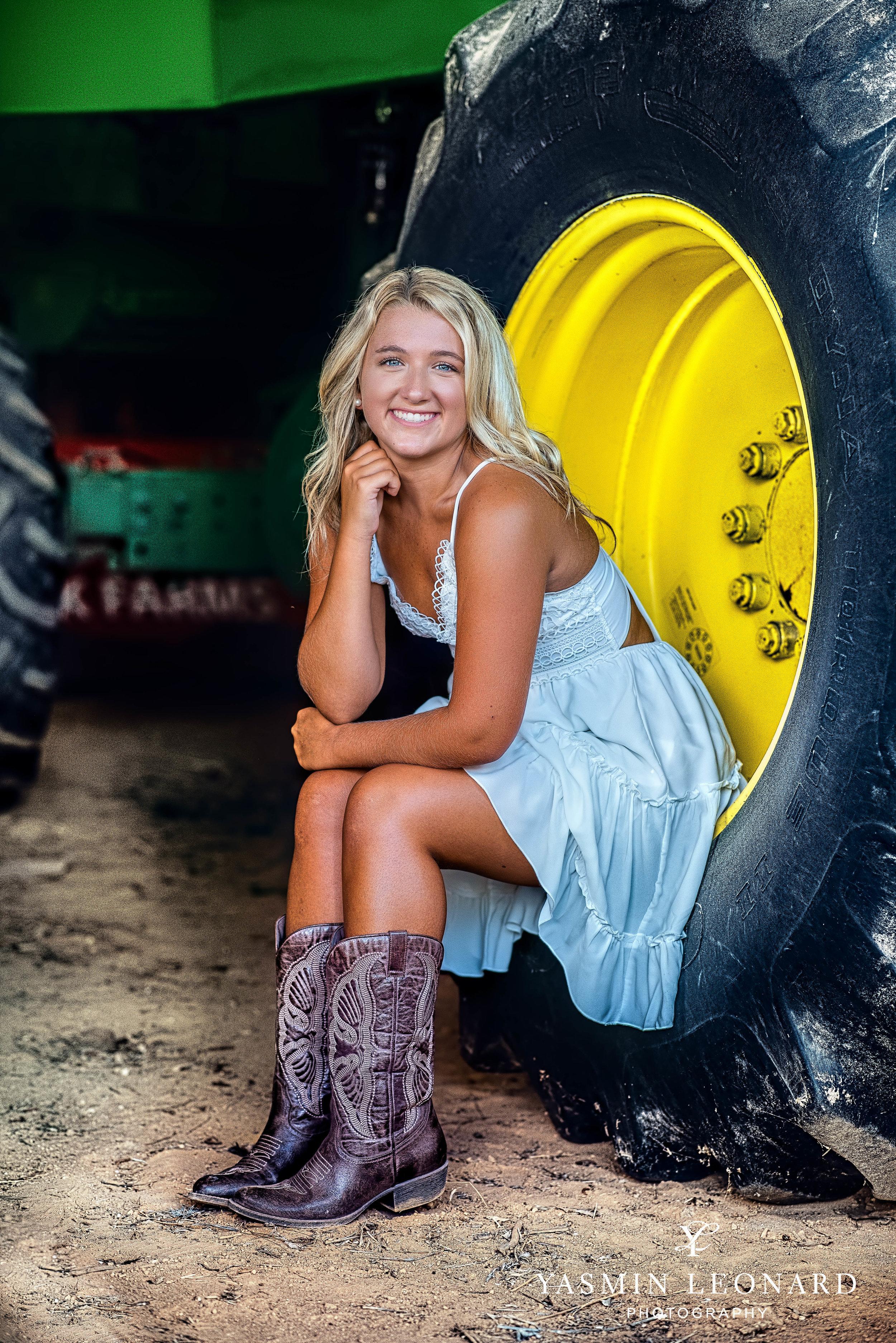 Senior Poses - Girl Senior Poses - Country Senior - Tractor with Senior - Tanglewood Senoir Portratis - Summer Senior Portrait Outfits - Yasmin Leonard PHotography-1.jpg