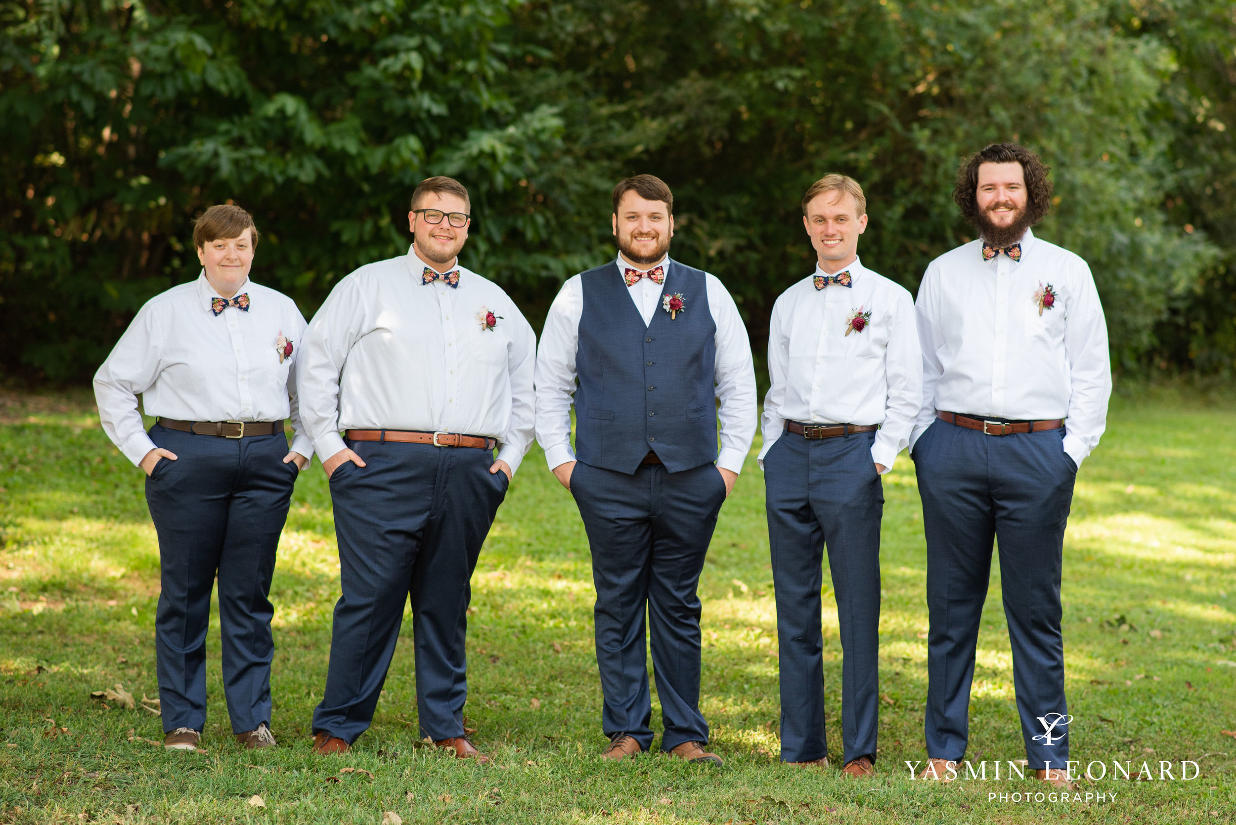 Hannah and David - l'abri at Linwood - NC Barn Weddings - Guys and Girls on Bride's Side - How to incorporate guys with bridesmaids - navy fall wedding - high point photographer - nc wedding venues - triad weddings-8.jpg