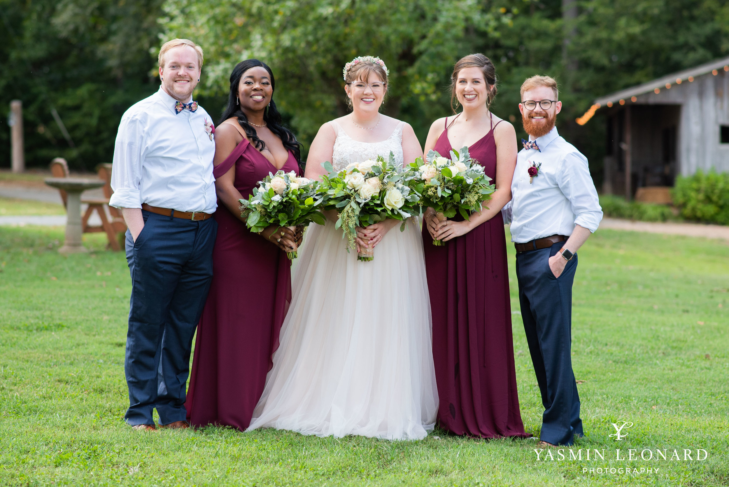 Hannah and David - l'abri at Linwood - NC Barn Weddings - Guys and Girls on Bride's Side - How to incorporate guys with bridesmaids - navy fall wedding - high point photographer - nc wedding venues - triad weddings-11.jpg