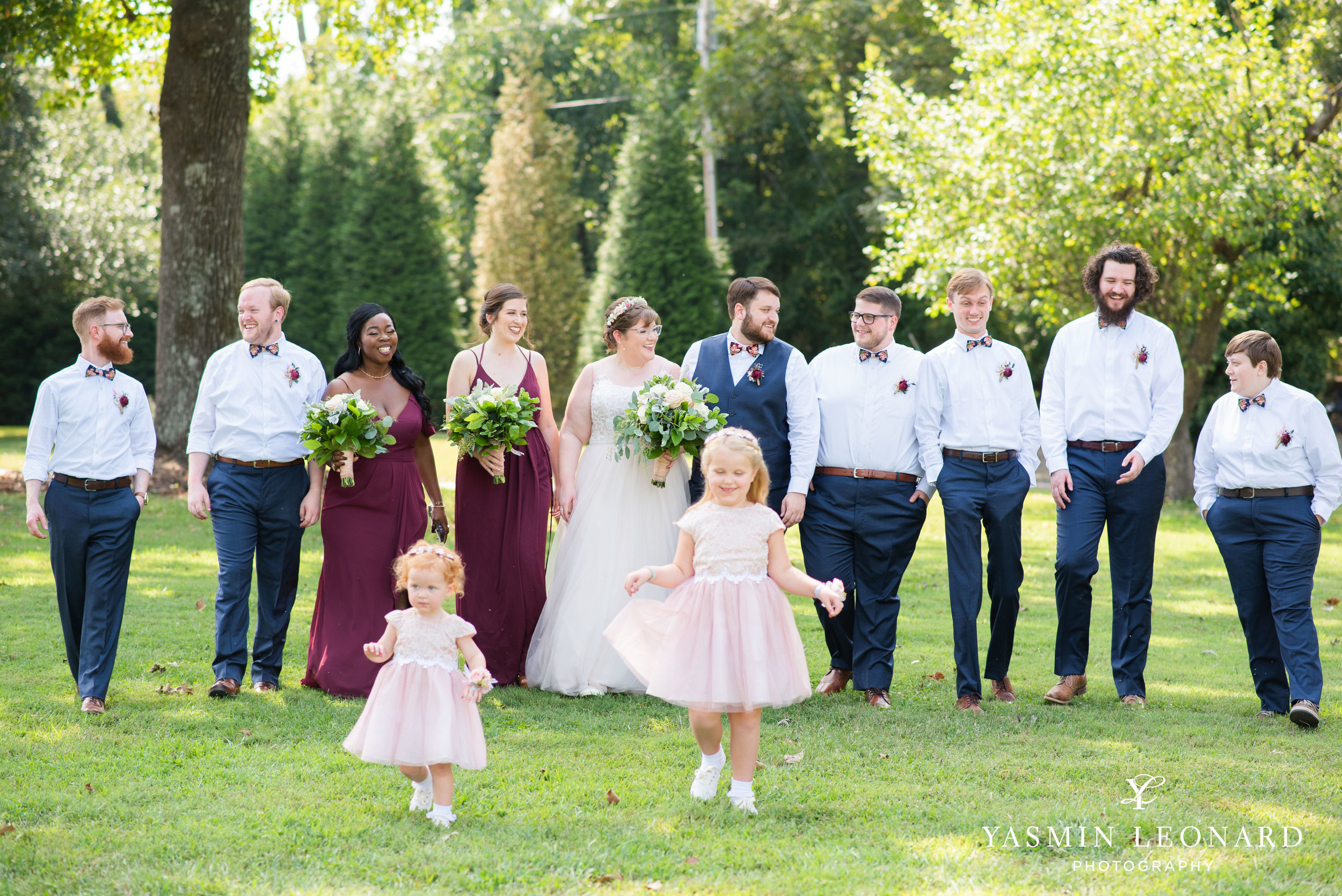 Hannah and David - l'abri at Linwood - NC Barn Weddings - Guys and Girls on Bride's Side - How to incorporate guys with bridesmaids - navy fall wedding - high point photographer - nc wedding venues - triad weddings-19.jpg