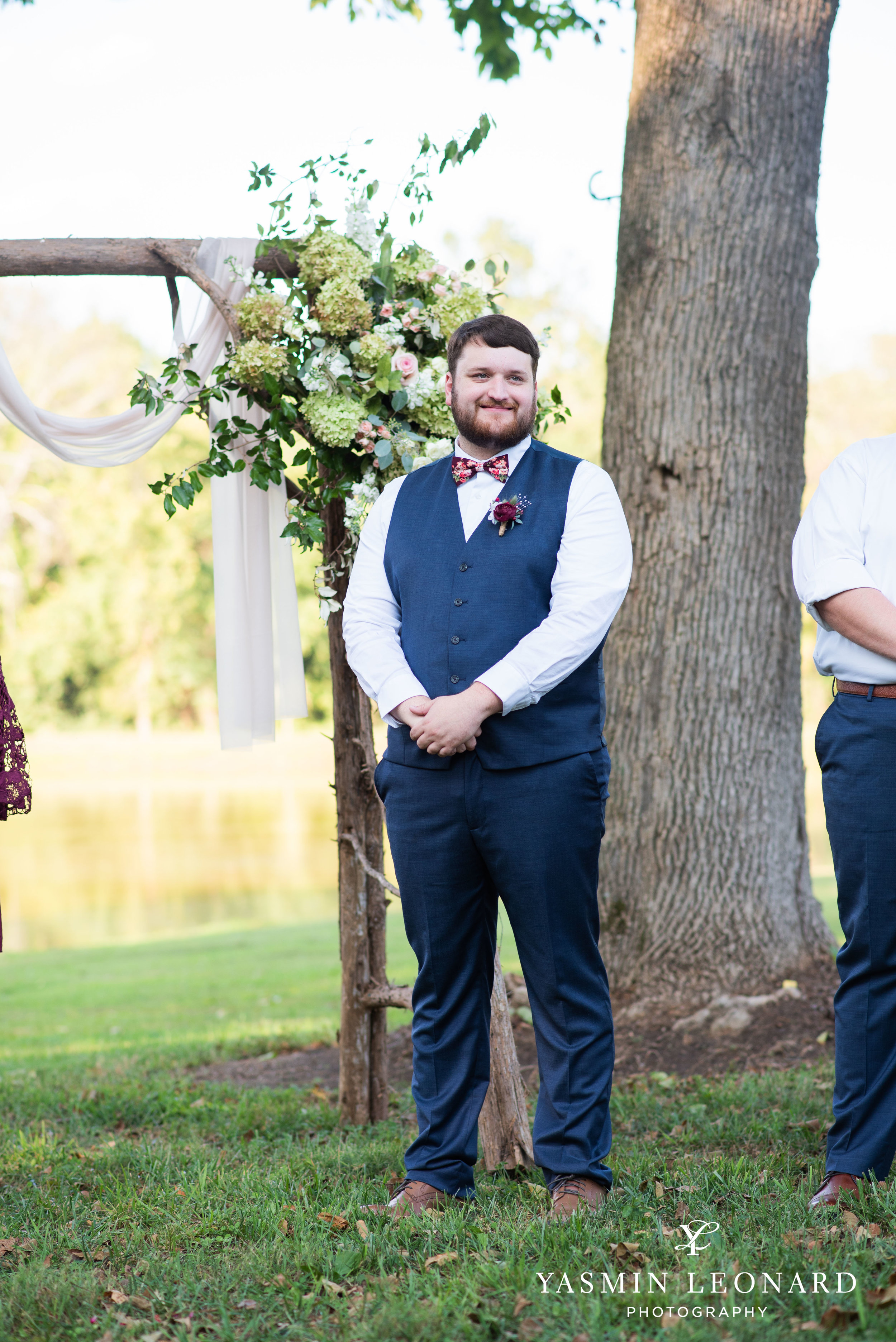 Hannah and David - l'abri at Linwood - NC Barn Weddings - Guys and Girls on Bride's Side - How to incorporate guys with bridesmaids - navy fall wedding - high point photographer - nc wedding venues - triad weddings-23.jpg