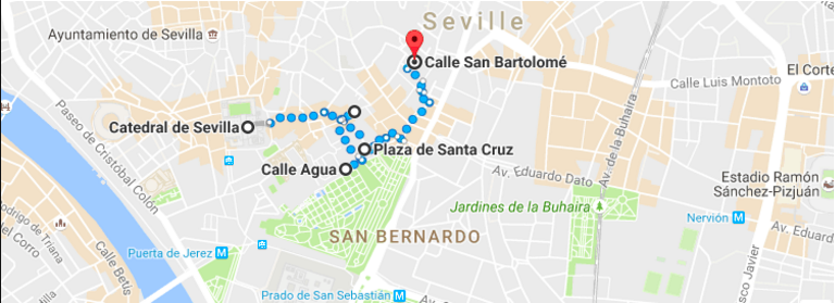 This map will take you through the narrowest streets in the old city centre. Be sure to take a peak into some of the patios as you walk by.