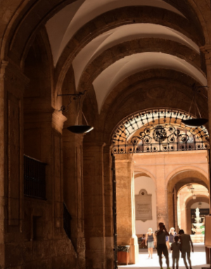 The entrance of the University of Seville is immense and well worth a look around.