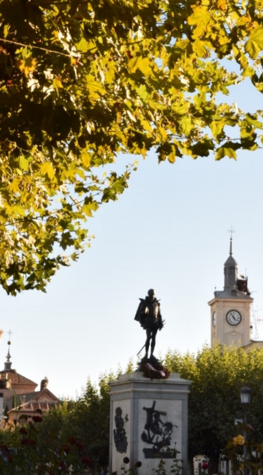 Plaza Cervantes is in the heart of Alcala