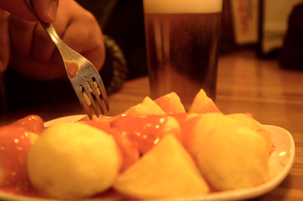 Patatas bravas are a famous tapa from Madrid
