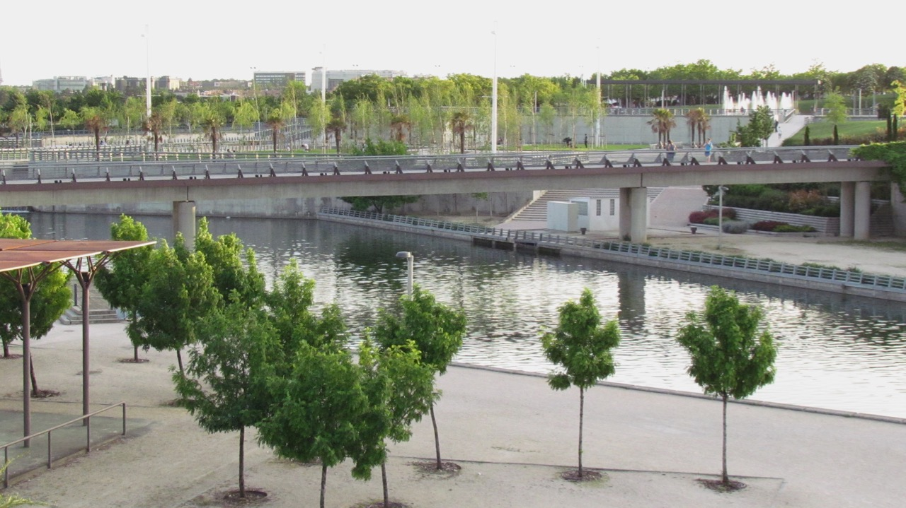 Kayaks and canoes are available to rent to take a paddle along the river and lake at Juan Carlos I park