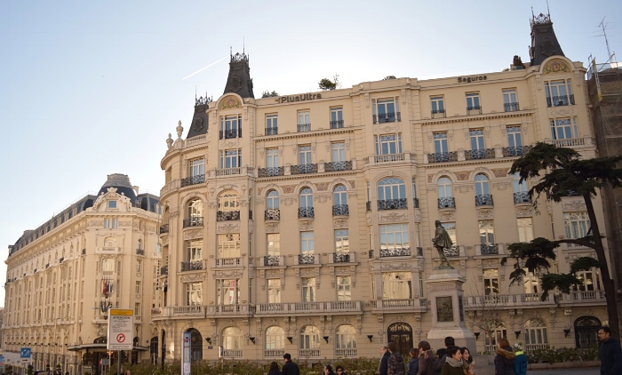 Madrid has many elegant buildings to admire such as these: The Palace Hotel and Plus Seguros building.