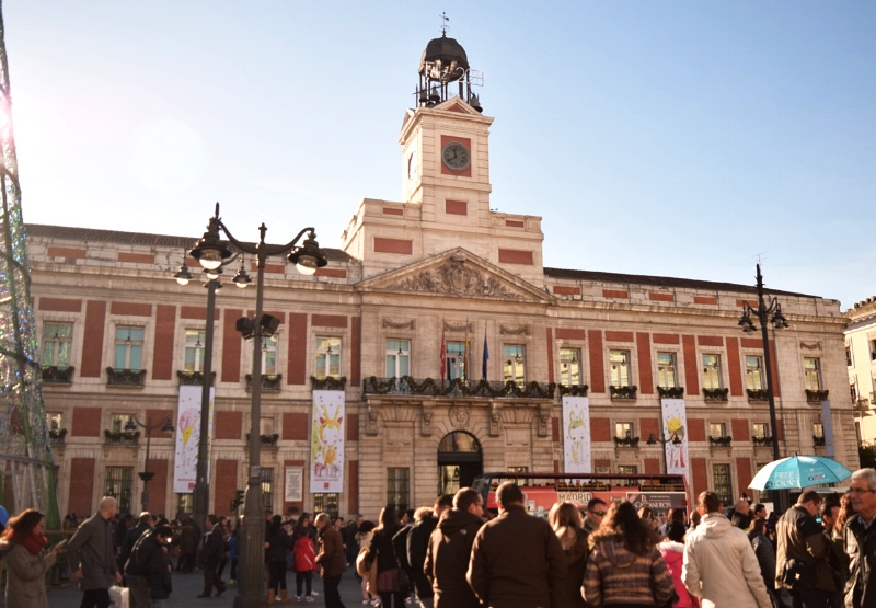 In the Puerta del Sol you will really feel the pulse of Madrid.