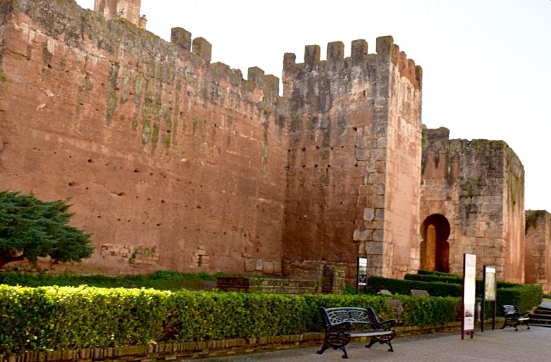 The outer walls of Niebla, Huelva invite exploration.