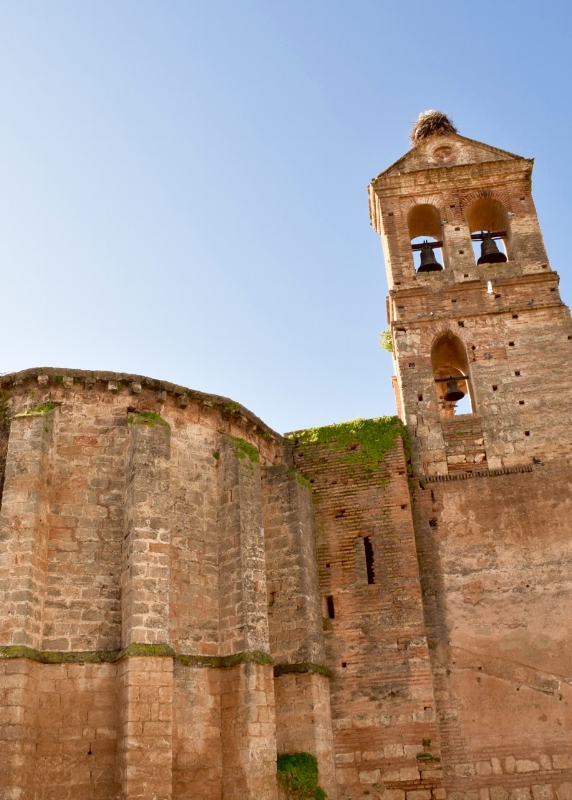 The Guzmane Castle was built in the early 1400's. You can take a tour through it in Niebla, Huelva.