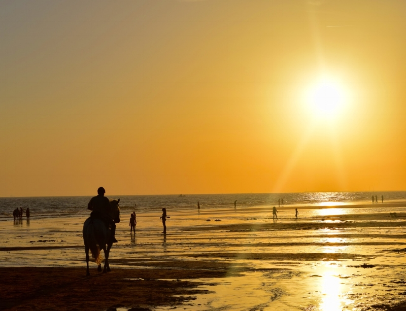 You can rent horses at Mazagon beach and ride off into the sunset.