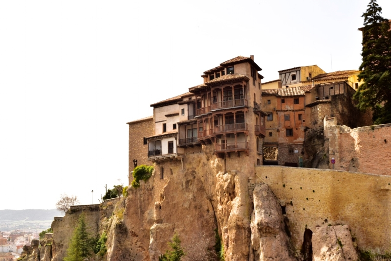 The cliff-hanging houses of Cuenca.