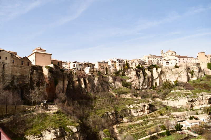 The view of the Ravine and part of Cuenca as you cross the San Pablo bridge.