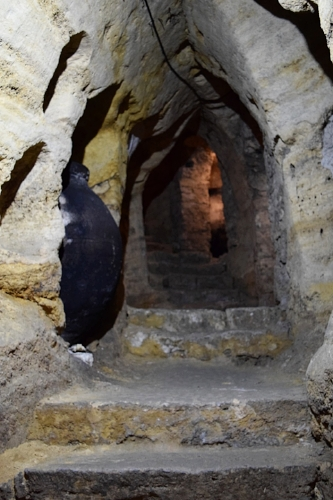 The caves under Brihuega were used as escape routes for the townspeople in times of conflict.