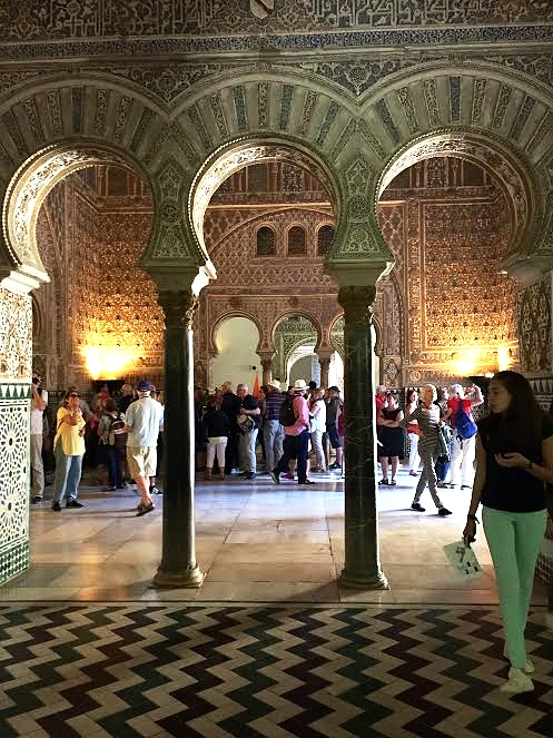 The Knapps spent an entire day touring the Alcazar palace in Seville. Sara Knapp photo