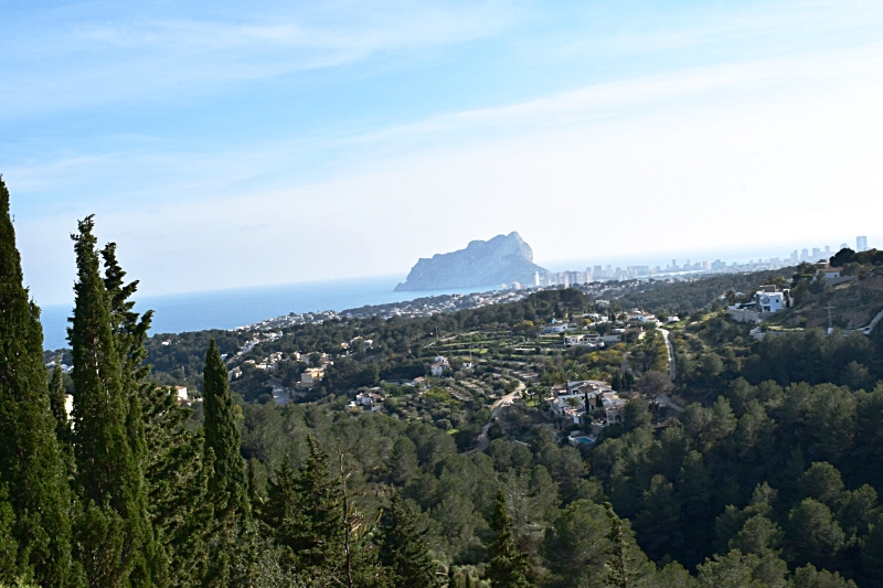 The rolling hills overlooking Calpe, Spain