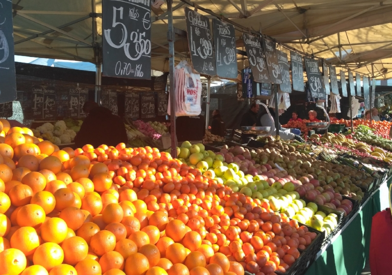 The fruit markets are fun to visit—just remember DONT touch the fruit