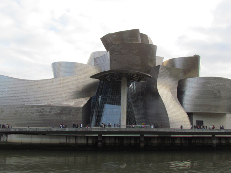 The Guggenheim Museum in Bilbao, the Basque country