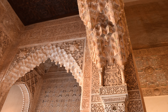 It is almost impossible to take in all the details of the intregrate designs of the walls, ceilings and floors of the palaces throughout the Alhambra.